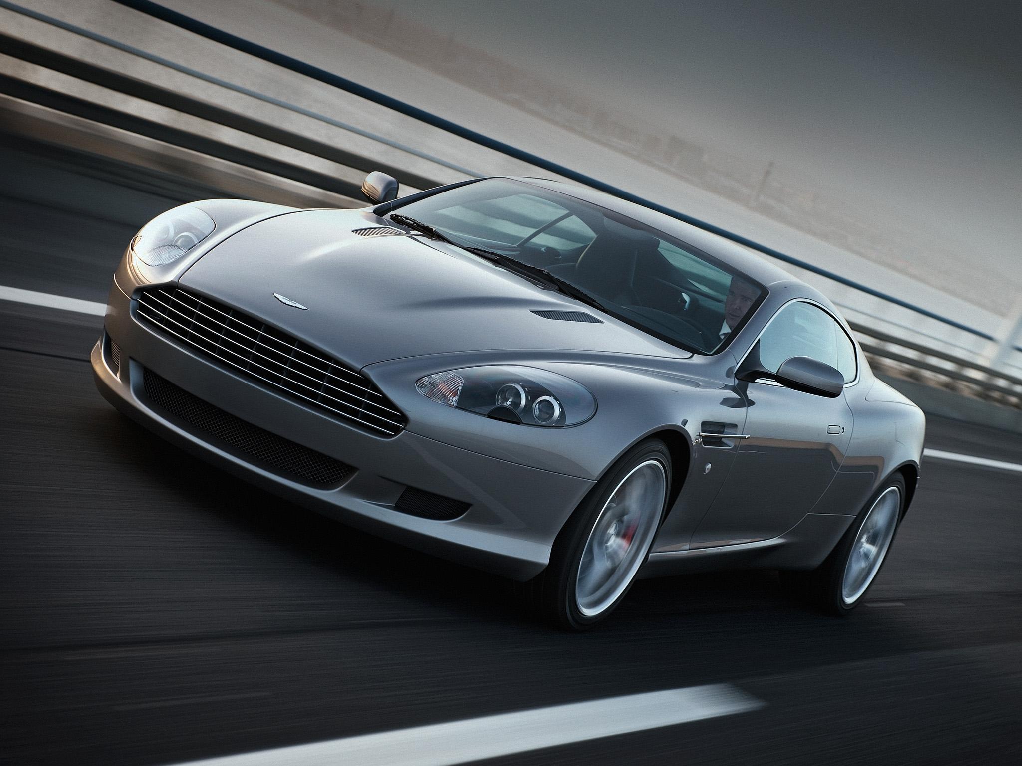 150931 скачать обои Спорт, Машины, Астон Мартин (Aston Martin), Тачки (Cars), Асфальт, Вид Спереди, Серый, Скорость, Стиль, 2008, Db9 - заставки и картинки бесплатно