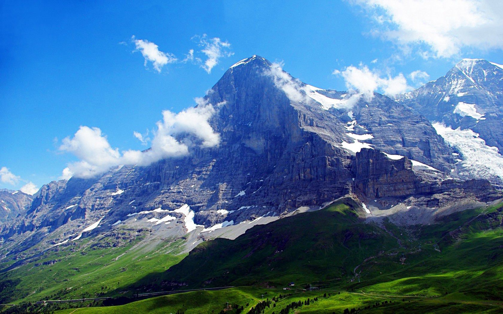50622 download wallpaper Nature, Alps, Switzerland, Sky, Mountains screensavers and pictures for free