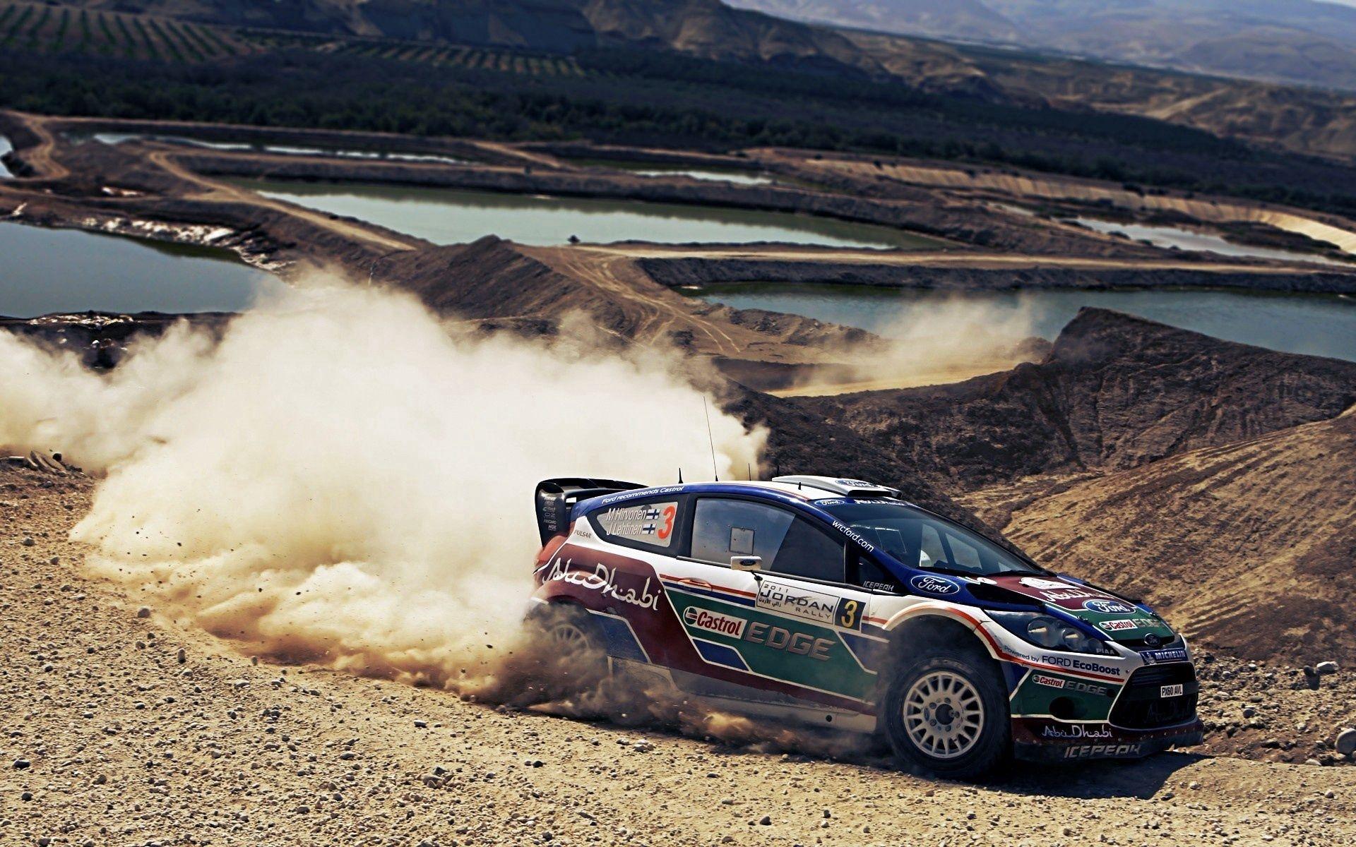 112209 Hintergrundbild herunterladen Rallye, Sport, Ford, Staub, Schleudern, Schlittern - Bildschirmschoner und Bilder kostenlos