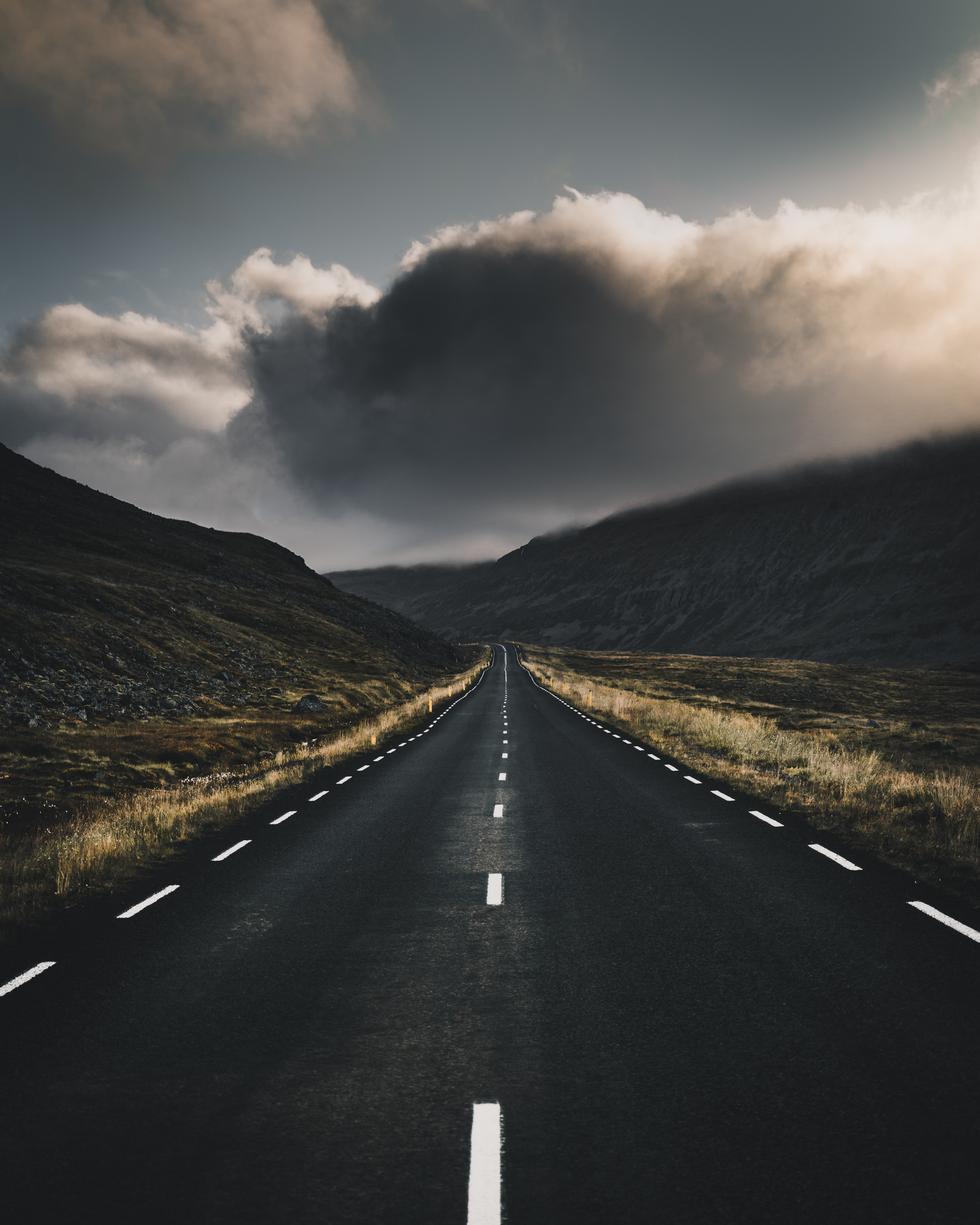 66995 Screensavers and Wallpapers Road for phone. Download Road, Nature, Clouds, Turn, Markup pictures for free