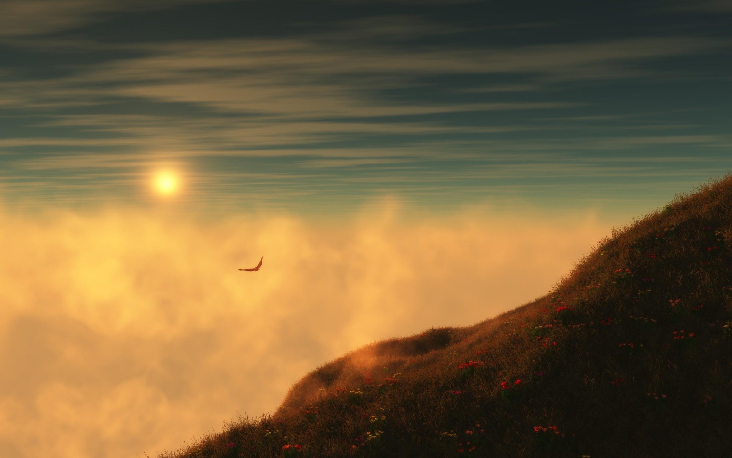 26305 скачать обои Пейзаж, Закат, Небо, Горы, Облака - заставки и картинки бесплатно