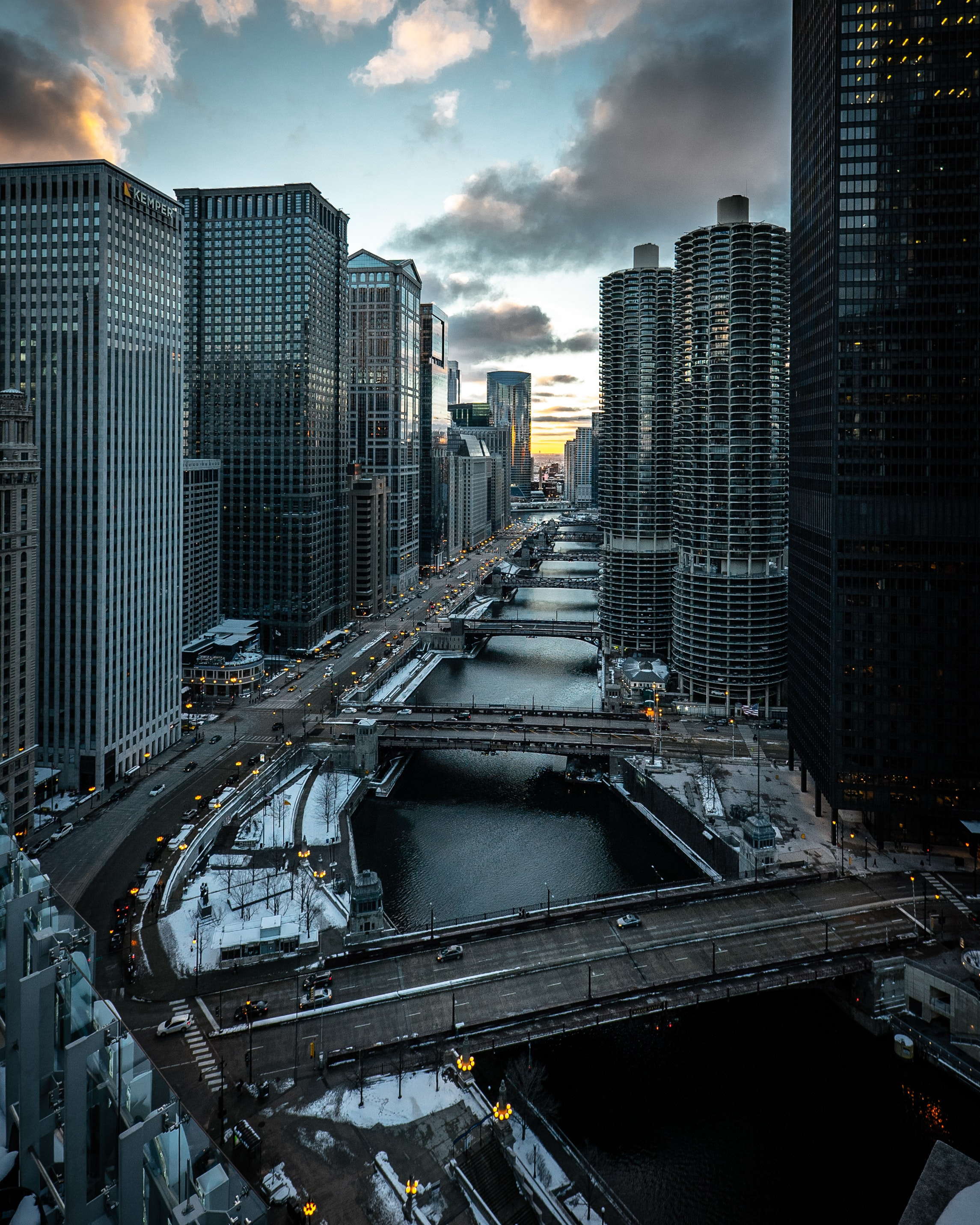 93792 download wallpaper Cities, Bridges, City, Building, View From Above, Chicago screensavers and pictures for free