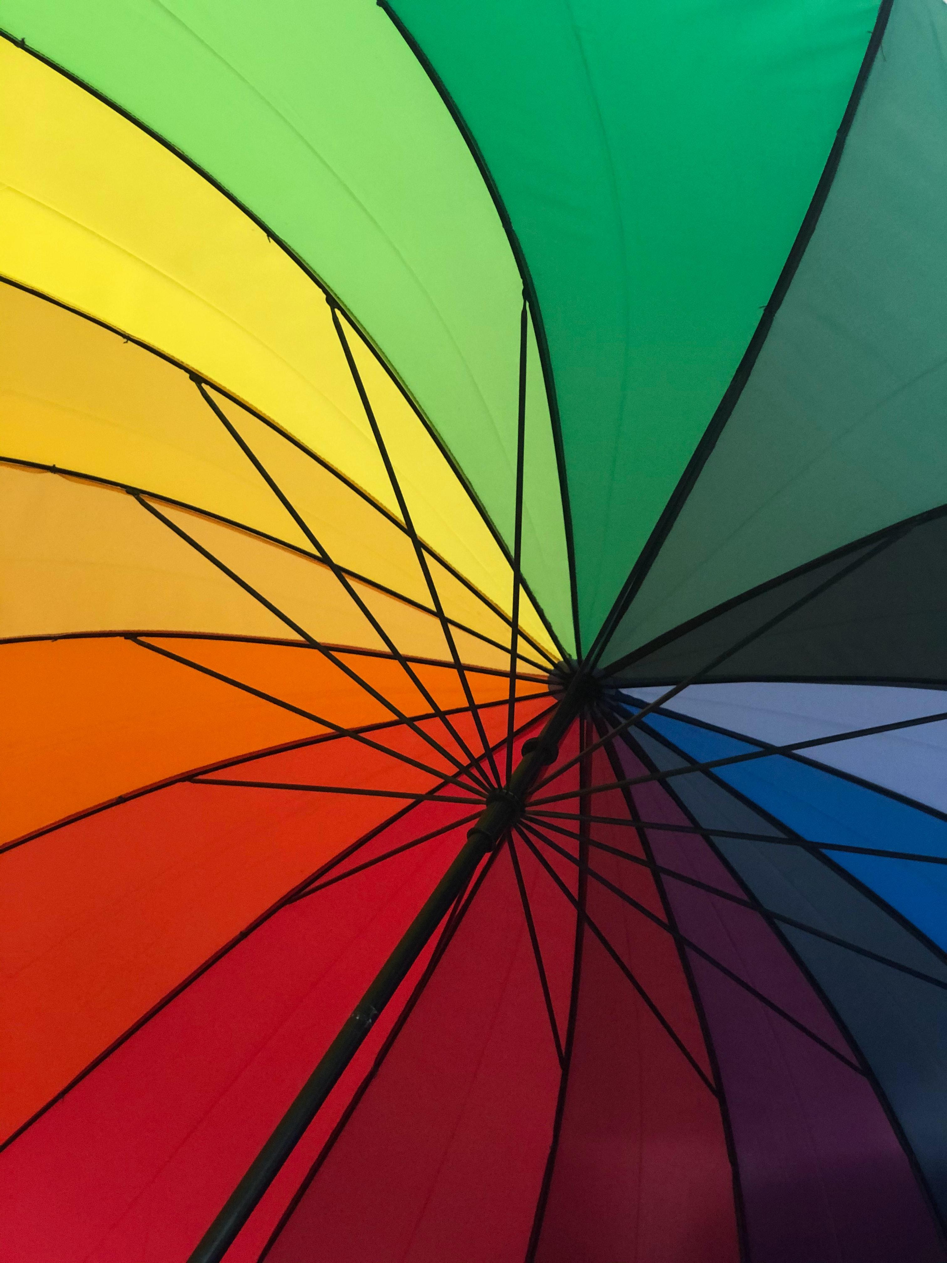 130309 скачать обои Радуга, Разное, Разноцветный, Зонт - заставки и картинки бесплатно
