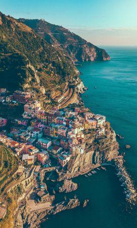 151728 скачать обои Город, Скалы, Море, Манарола, Италия, Горы, Города - заставки и картинки бесплатно