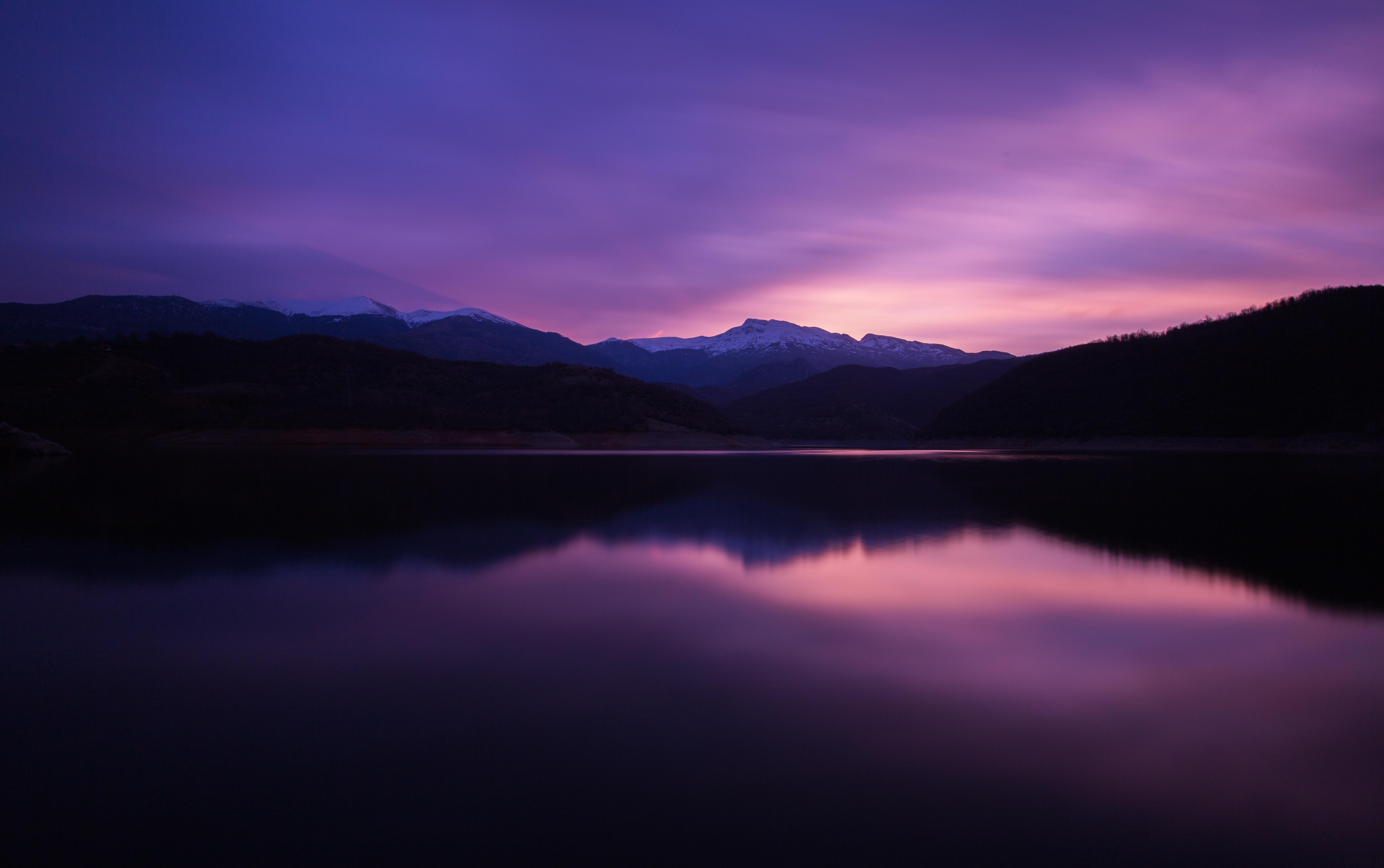 57587 скачать обои Ночь, Природа, Горы, Озеро, Отражение - заставки и картинки бесплатно