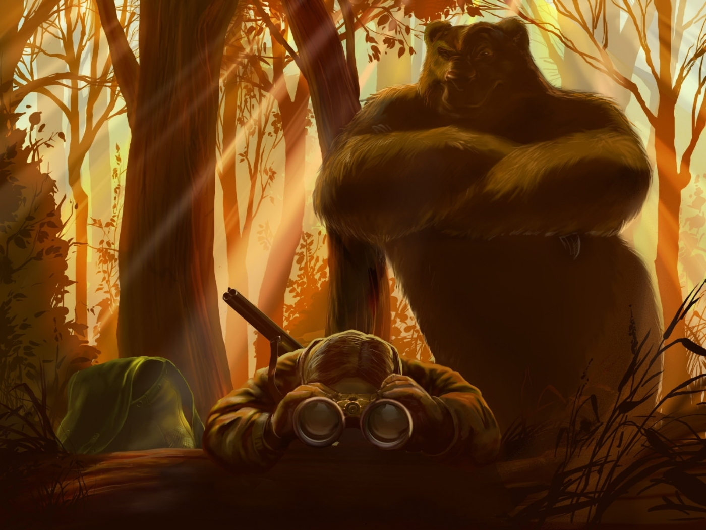 25251 download wallpaper Funny, Animals, People, Men, Bears, Pictures screensavers and pictures for free
