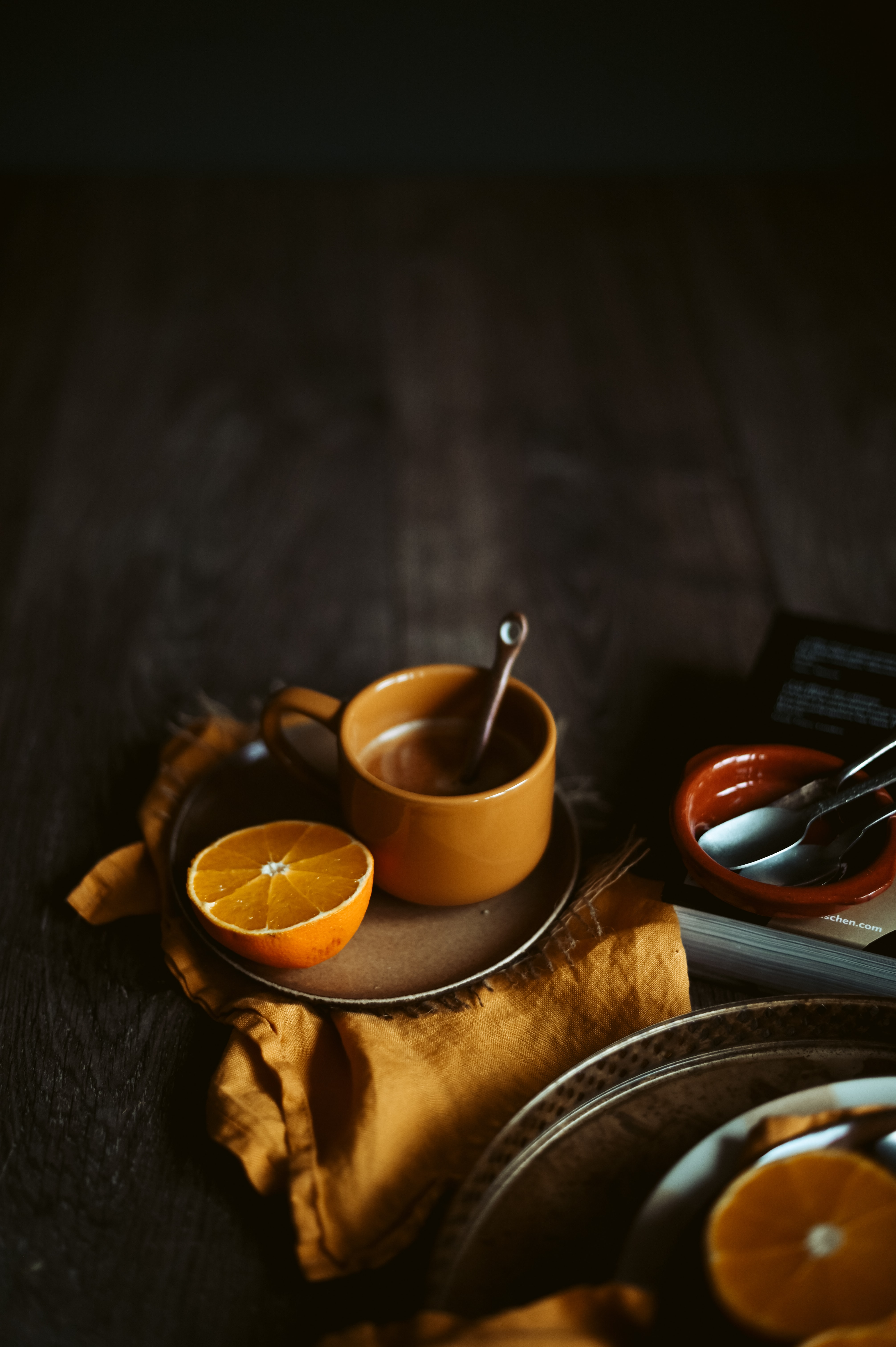 83535 free download Orange wallpapers for phone, Food, Cup, Coziness, Comfort Orange images and screensavers for mobile