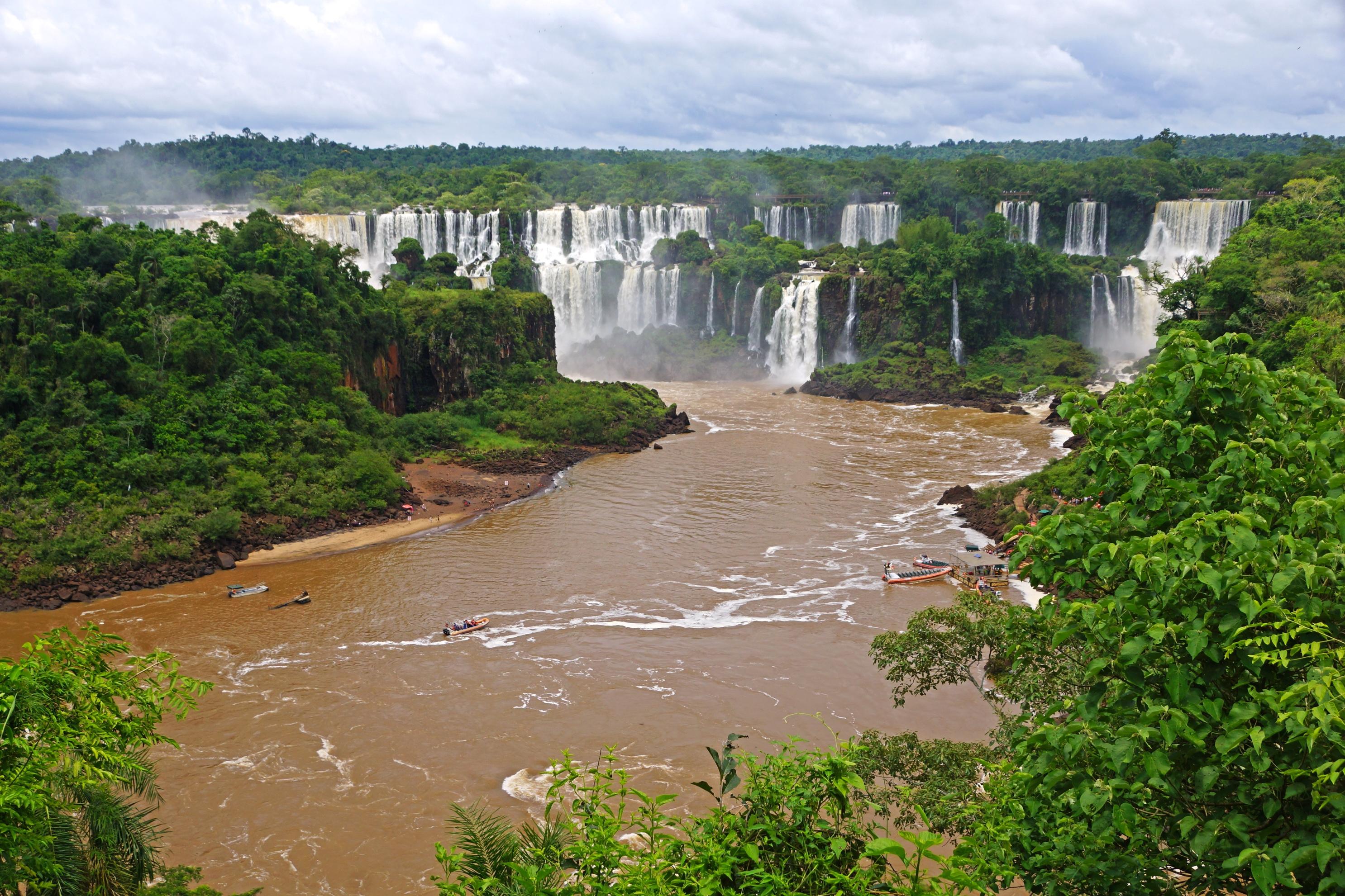 140700 télécharger le fond d'écran Rivières, Paysage, Nature, Cascades, Brésil, Fleuve, Iguazú, Iguazu - économiseurs d'écran et images gratuitement