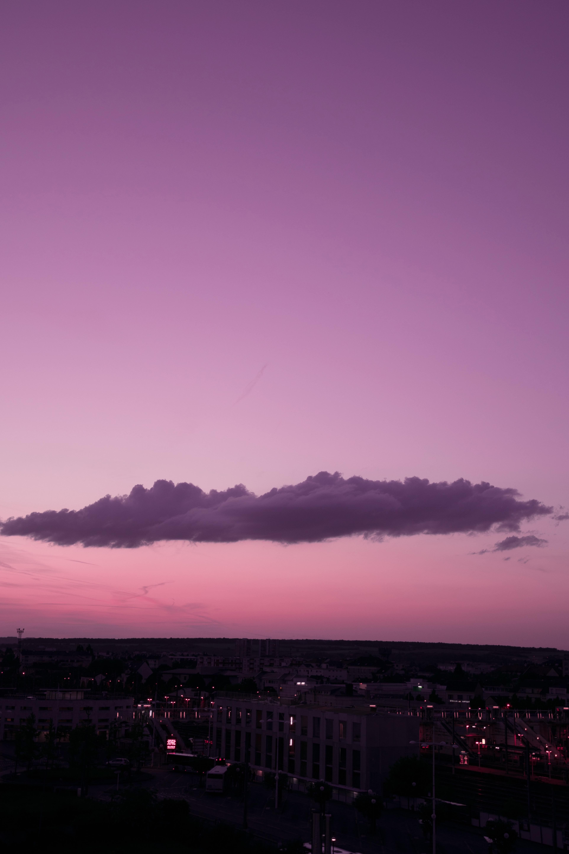 53264 免費下載壁紙 夜城, 日落, 黄昏, 云, 云端, 城市 屏保和圖片