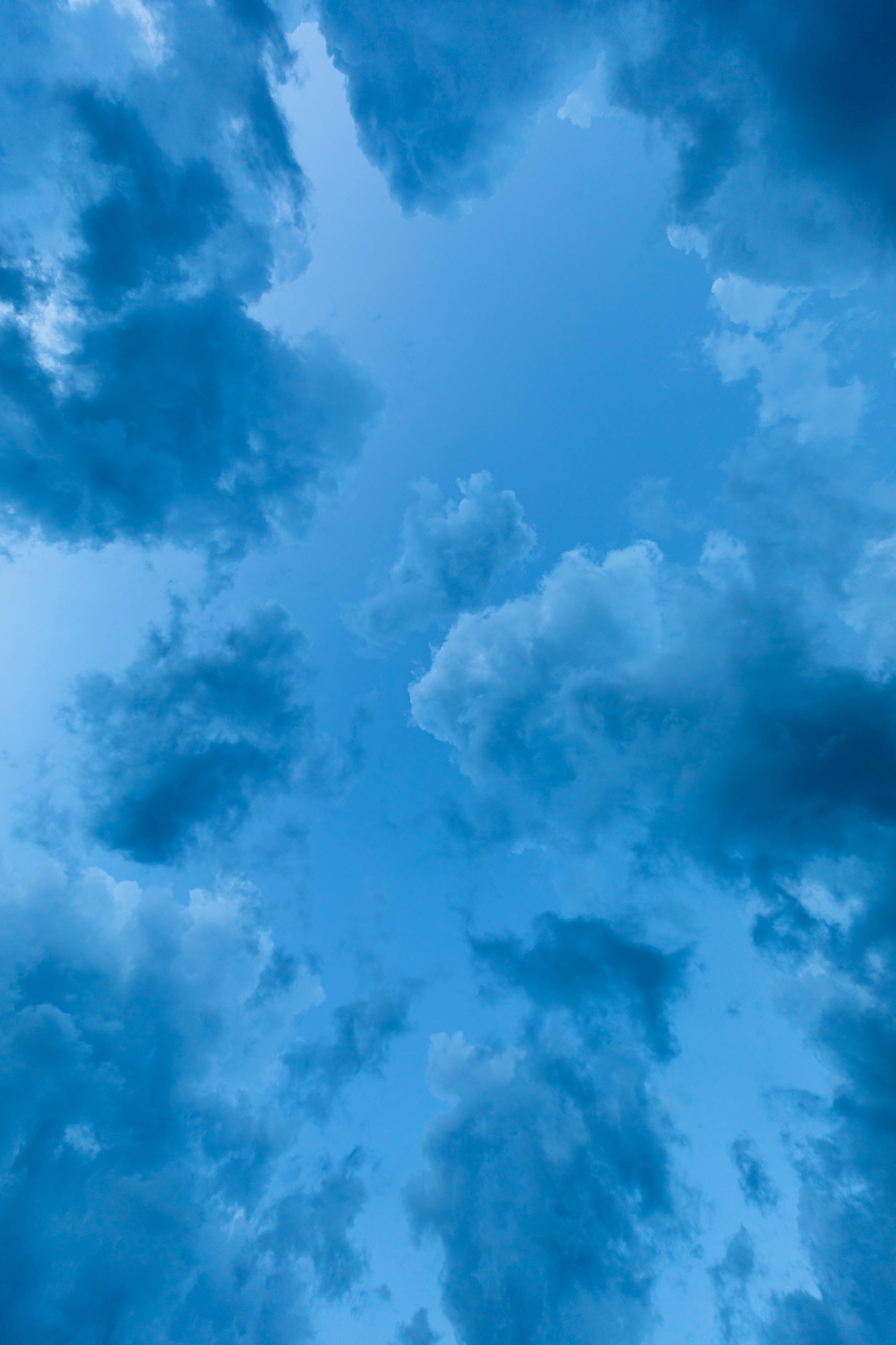 79433 Lade kostenlos Blau Hintergrundbilder für dein Handy herunter, Natur, Sky, Clouds, Höhe, Atmosphäre Blau Bilder und Bildschirmschoner für dein Handy
