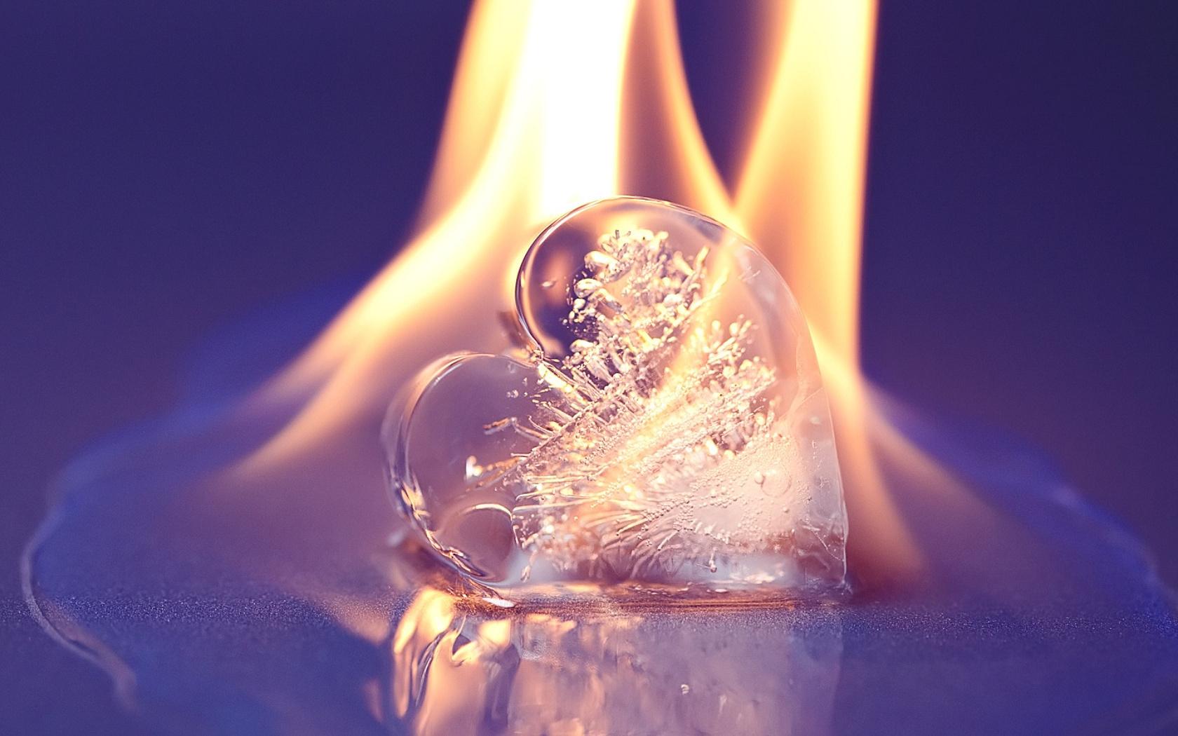 16126 скачать обои Фон, Огонь, Сердца, Лед, Любовь, День Святого Валентина (Valentine's Day) - заставки и картинки бесплатно