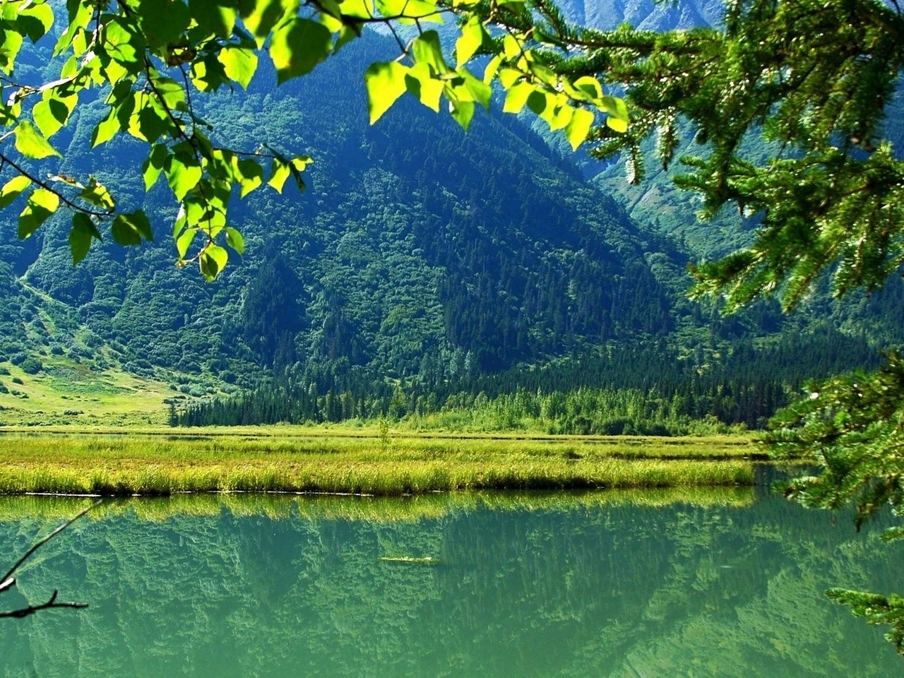 49117 download wallpaper Landscape, Nature, Mountains, Lakes screensavers and pictures for free