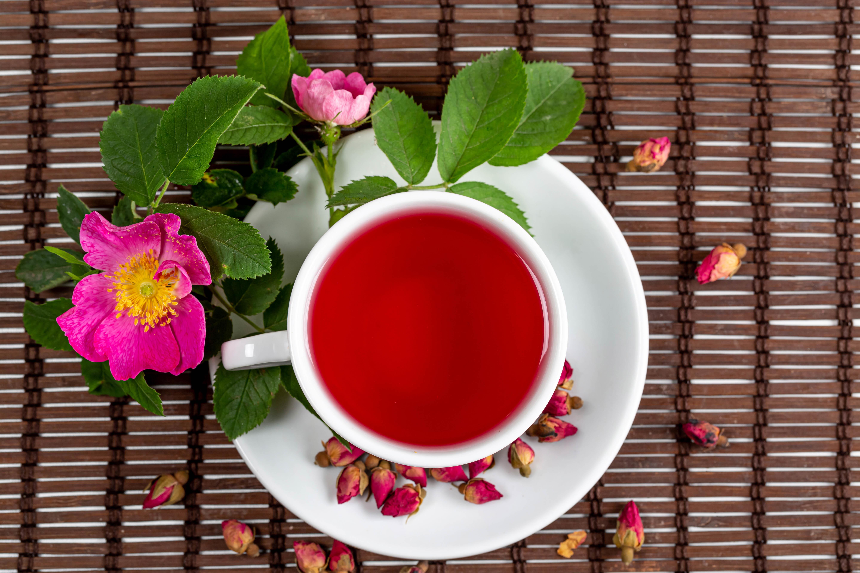 152611 скачать обои Чай, Цветы, Еда, Шиповник, Чашка - заставки и картинки бесплатно