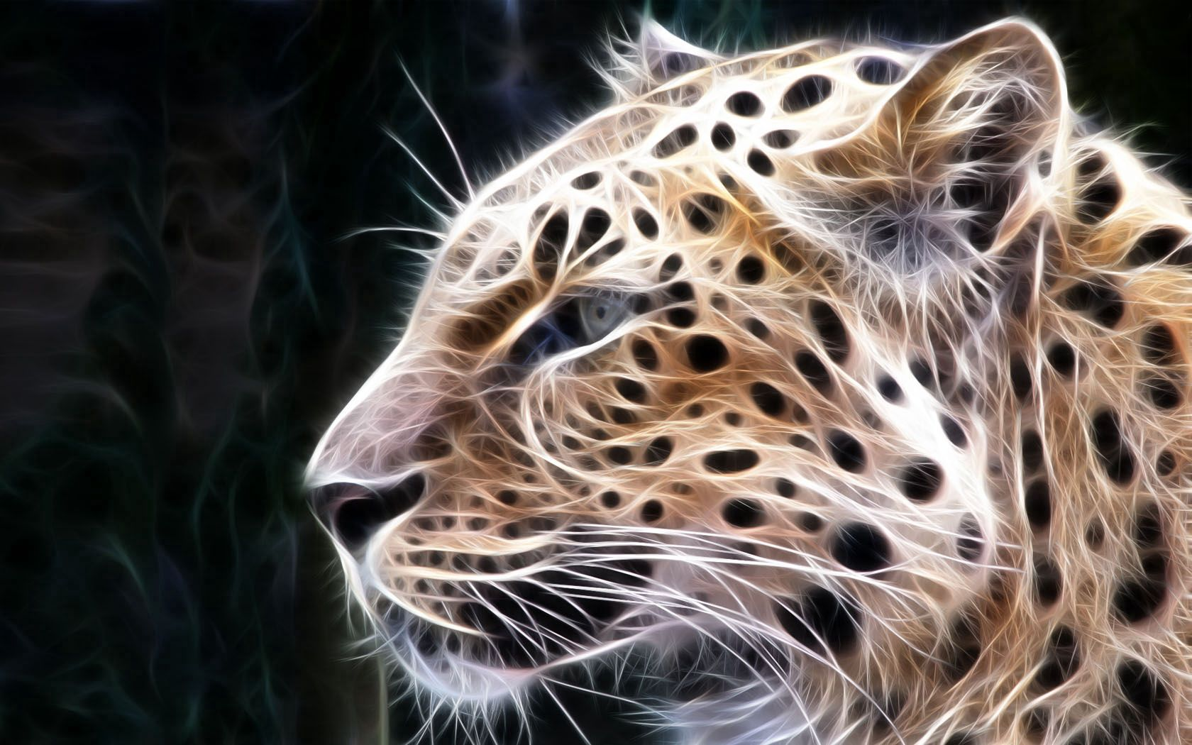 142220 download wallpaper Abstract, Leopard, Shine, Light, Lines, Glow screensavers and pictures for free
