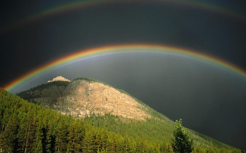 44508 免費下載壁紙 景观, 性质, 山, 彩虹 屏保和圖片
