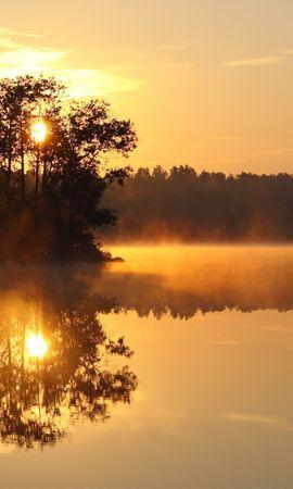 50337 скачать обои Пейзаж, Природа, Закат, Озера - заставки и картинки бесплатно