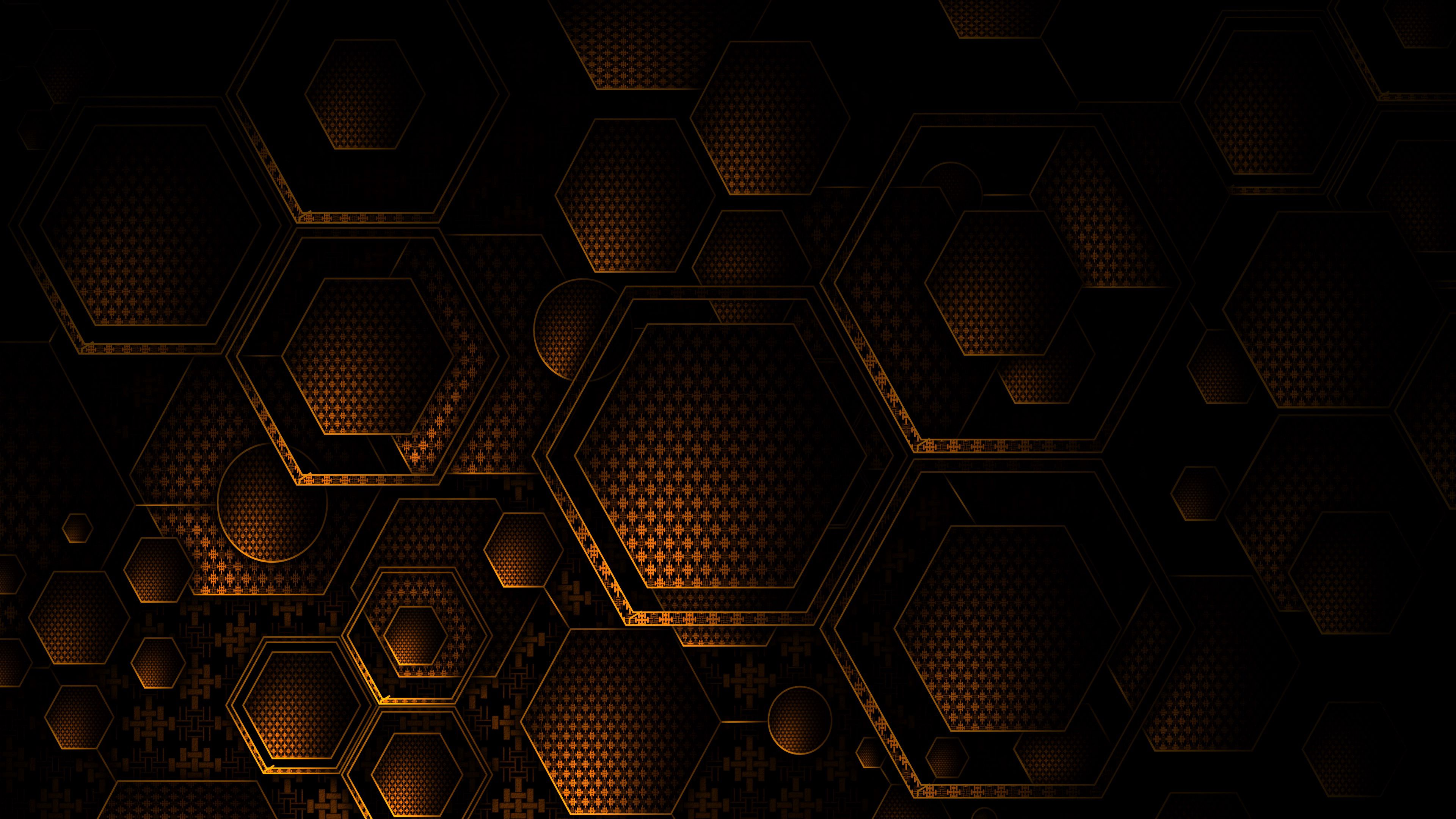 88624 download wallpaper Textures, Dark, Texture, Brown, Hexagons, Geometry screensavers and pictures for free