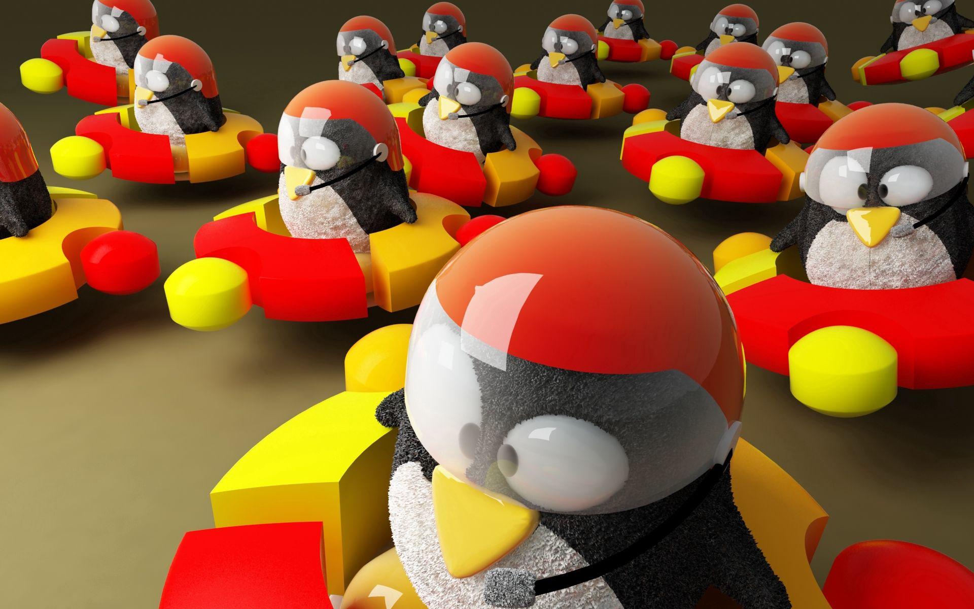 112902壁紙のダウンロード3D, Ubuntu, ウブントゥ, ロゴ, ロゴタイプ, ブランド名, ブランド, ハイテク, ペンギン-スクリーンセーバーと写真を無料で