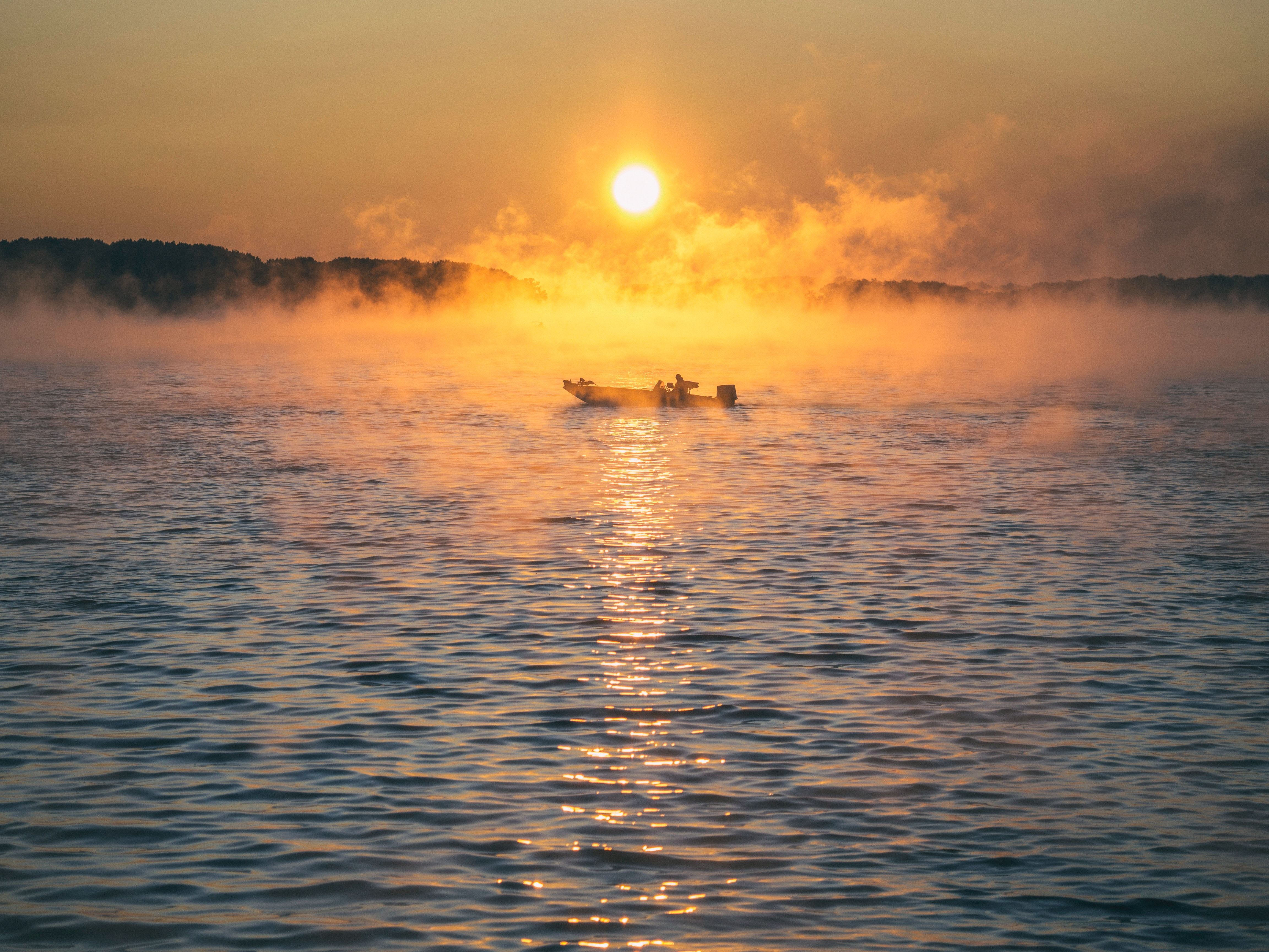 140768 Screensavers and Wallpapers Boat for phone. Download Nature, Sea, Fog, Boat pictures for free