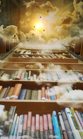 98862 Protetores de tela e papéis de parede Miscelânea em seu telefone. Baixe Miscelânea, Variado, Livros, Biblioteca, Photoshop, Prateleiras, Nuvens, Leitura, Voar, Voo fotos gratuitamente
