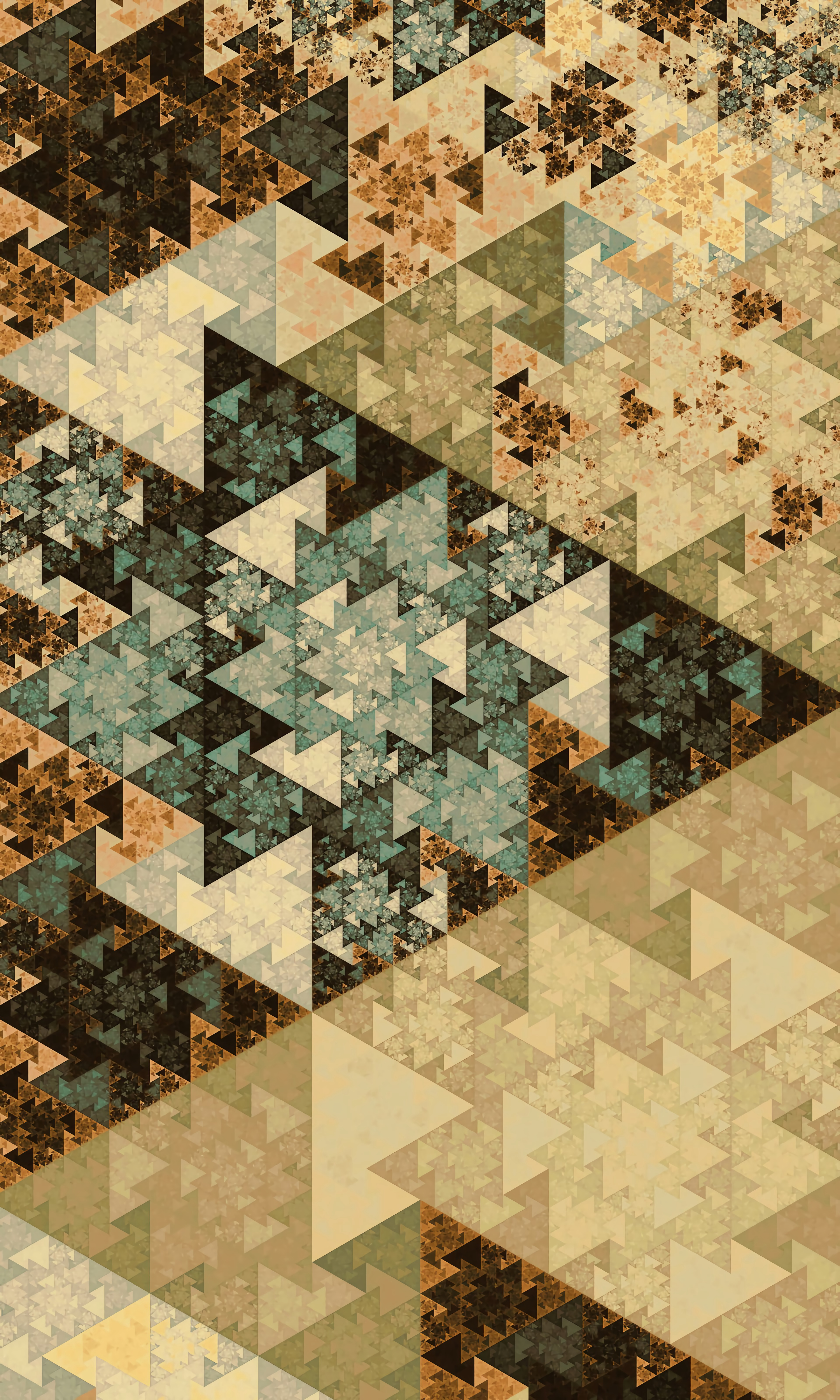 137805 download wallpaper Textures, Texture, Pattern, Triangles, Geometry, Multicolored, Motley, Fractal screensavers and pictures for free