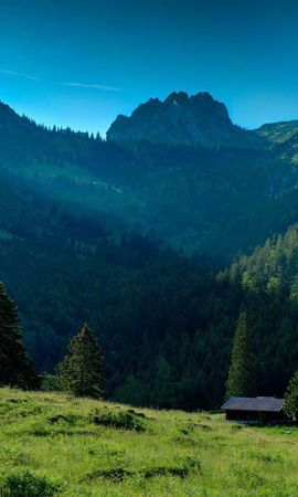 88197 скачать обои Трава, Природа, Горы, Пейзаж - заставки и картинки бесплатно