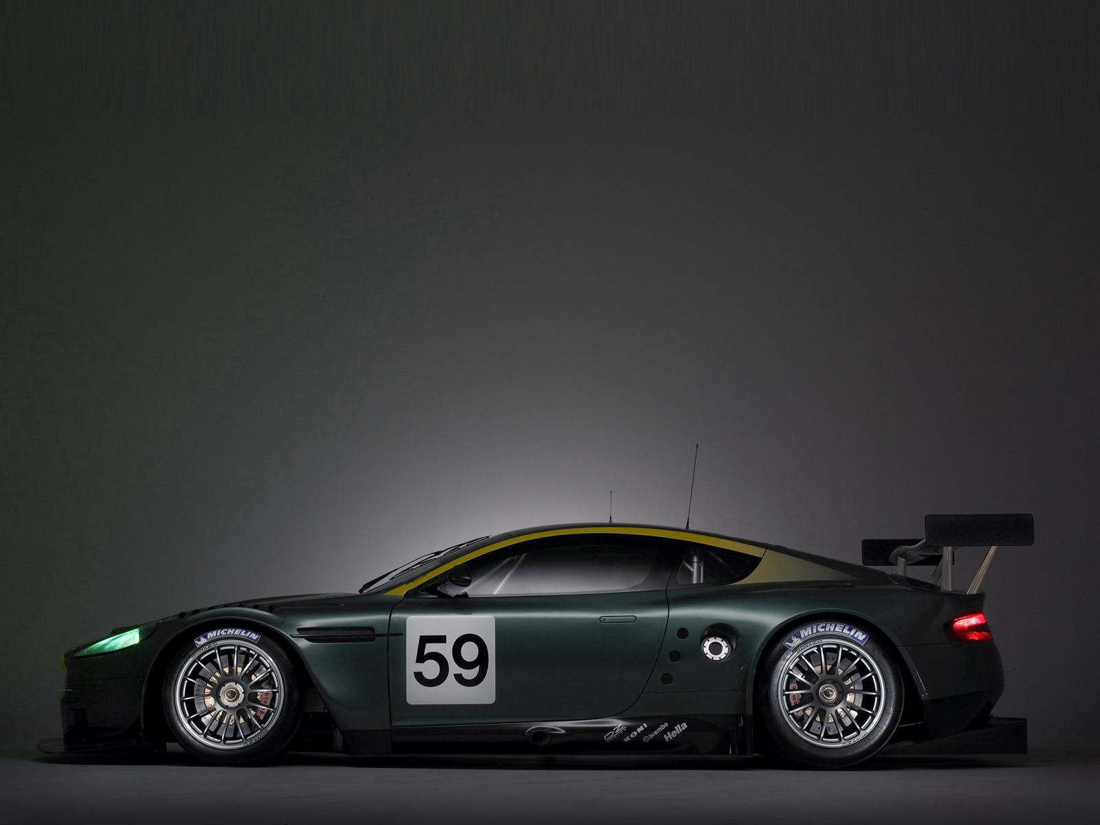 148731 download wallpaper Sports, Auto, Aston Martin, Cars, Side View, Style, 2005, Matt, Mat, Dbr9 screensavers and pictures for free
