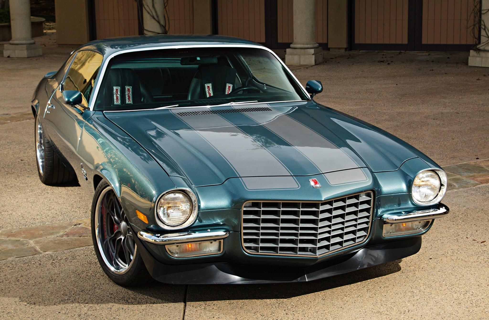 154787 скачать обои Тачки (Cars), 1971, Шевроле (Chevrolet), Camaro, Передний Бампер, Машины, Вид Спереди - заставки и картинки бесплатно