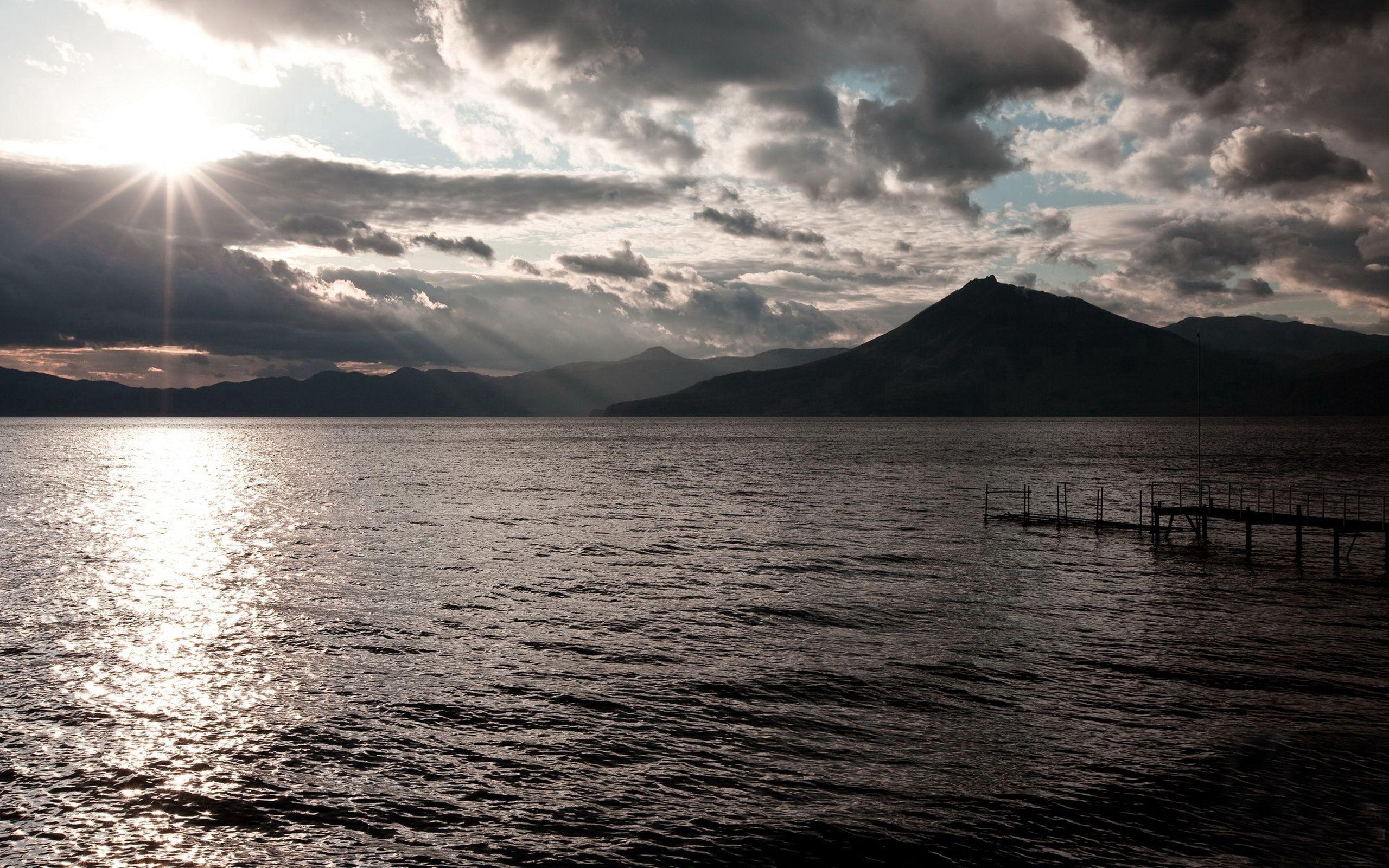 75983 скачать обои Природа, Море, Причал, Горы - заставки и картинки бесплатно