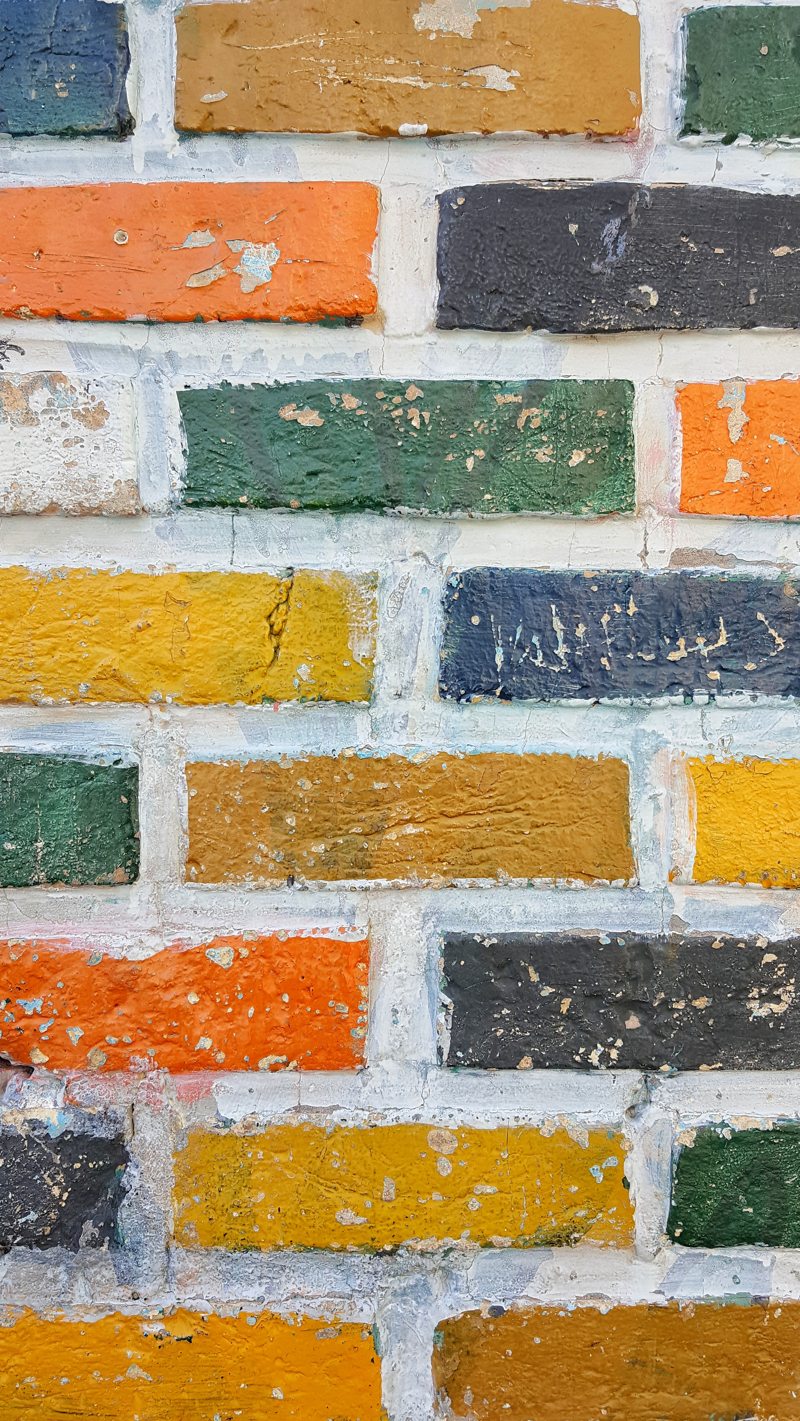 131080 download wallpaper Textures, Texture, Wall, Brick, Multicolored, Motley, Surface screensavers and pictures for free
