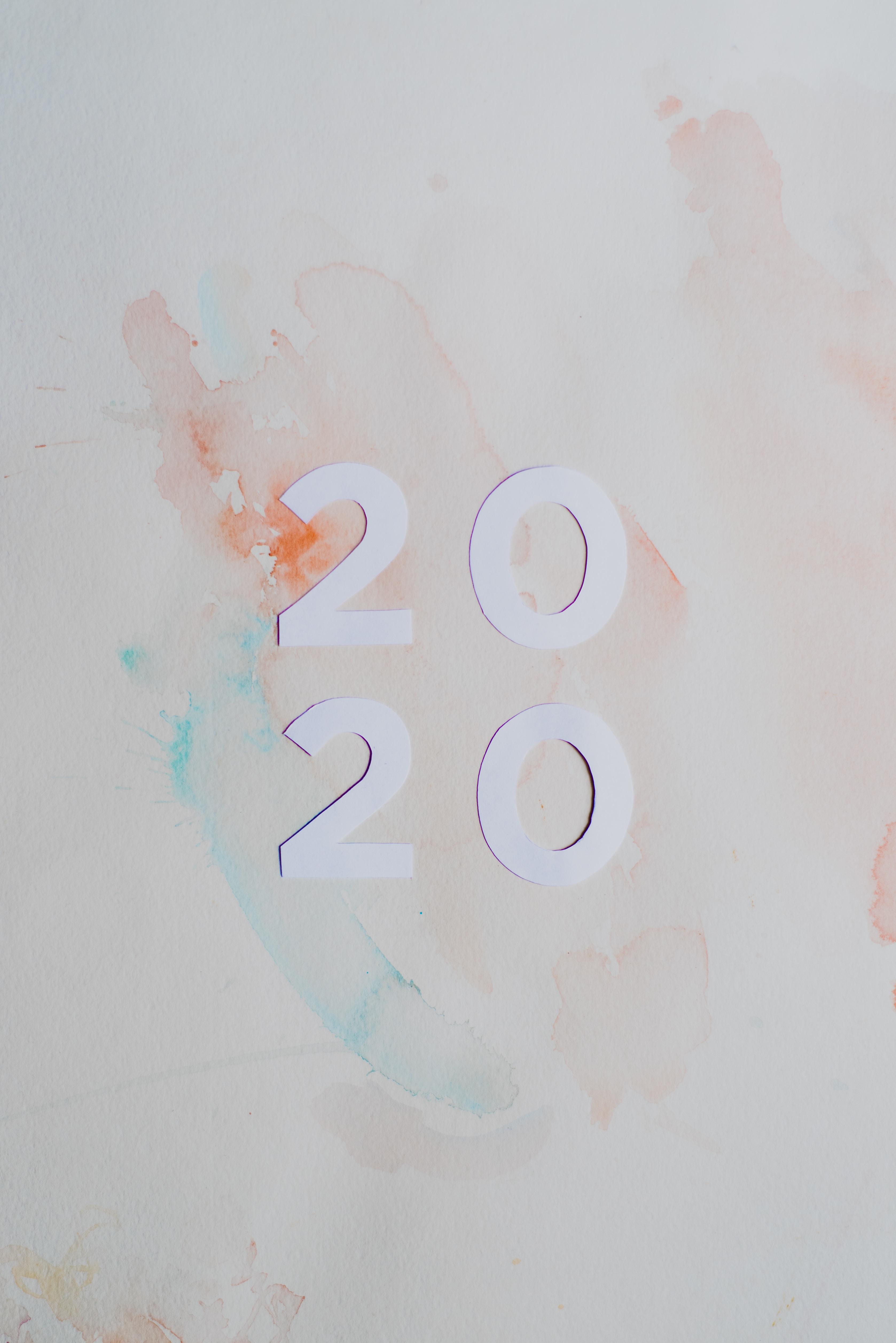 58503壁紙のダウンロード祝日, 2020, 新年, 数字, 番号, 汚れ, ぼつぼつ, 離婚-スクリーンセーバーと写真を無料で