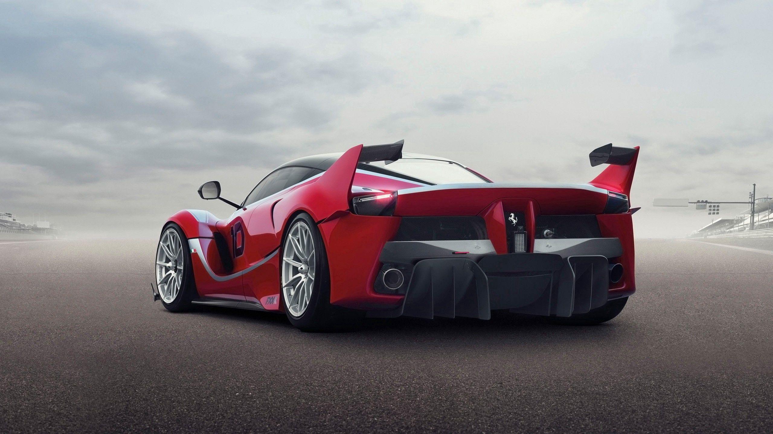 100420 скачать обои Феррари (Ferrari), Тачки (Cars), Вид Сзади, Крылья, Гиперкар, Ferrari Fxx K - заставки и картинки бесплатно