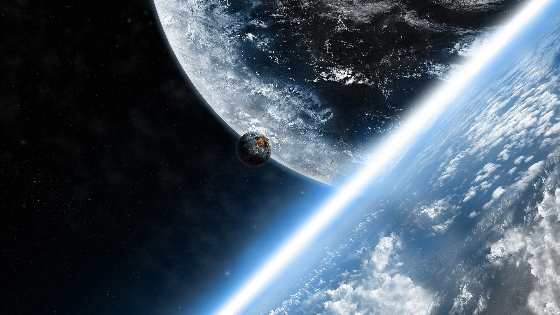 50022 download wallpaper Landscape, Planets, Universe screensavers and pictures for free