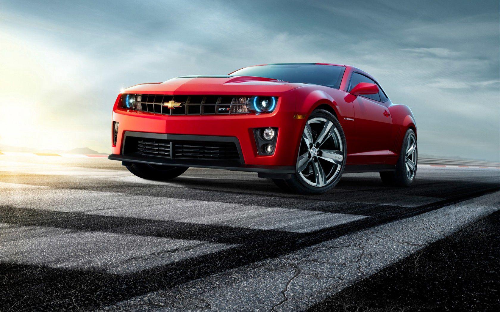 72938 скачать обои Тачки (Cars), Шевроле (Chevrolet), Camaro, Красный, Вид Спереди - заставки и картинки бесплатно