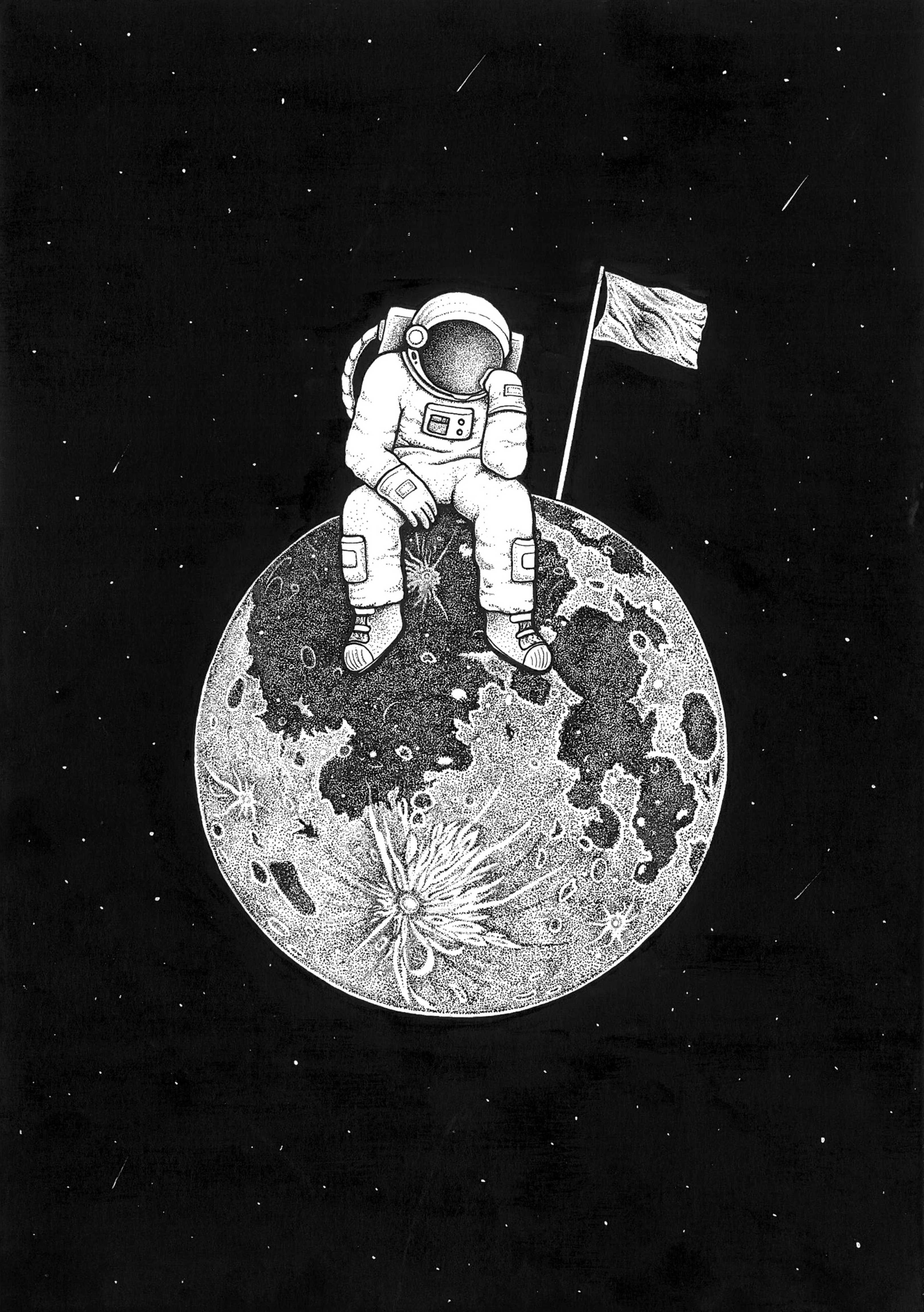 65686 Screensavers and Wallpapers Bw for phone. Download Art, Universe, Picture, Drawing, Bw, Chb, Planet, Astronaut pictures for free
