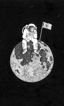 65686 baixar papel de parede Astronauta, Universo, Arte, Planeta, Foto, Desenho, Bw, Chb - protetores de tela e imagens gratuitamente