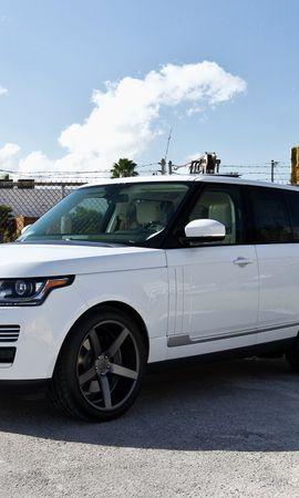65216 скачать Белые обои на телефон бесплатно, Тачки (Cars), Ленд Ровер (Land Rover), Рендж Ровер (Range Rover), Спорт, Джип Белые картинки и заставки на мобильный