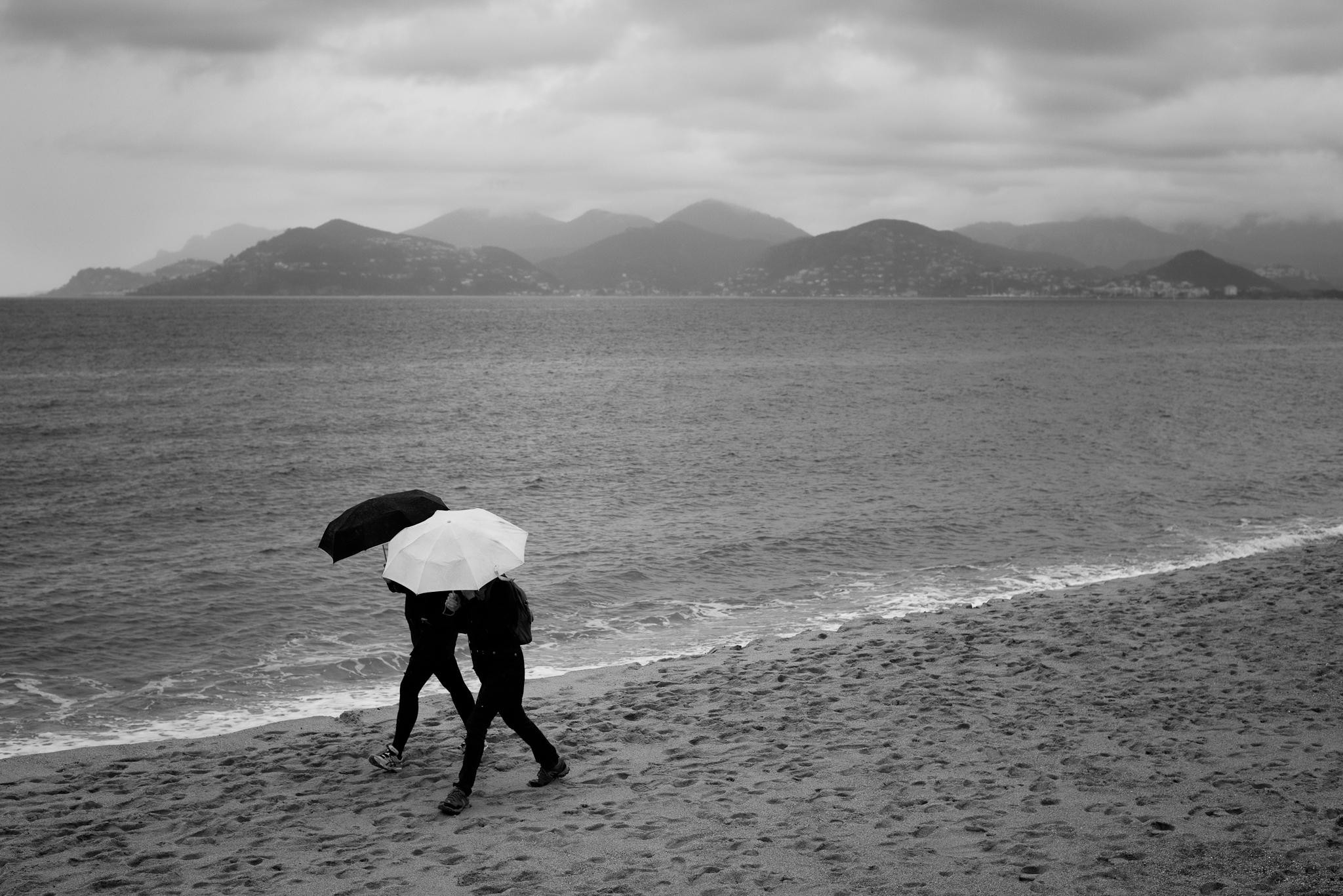 148305壁紙のダウンロードその他, 雑, ピープル, 傘, 雨, 海, ビーチ-スクリーンセーバーと写真を無料で