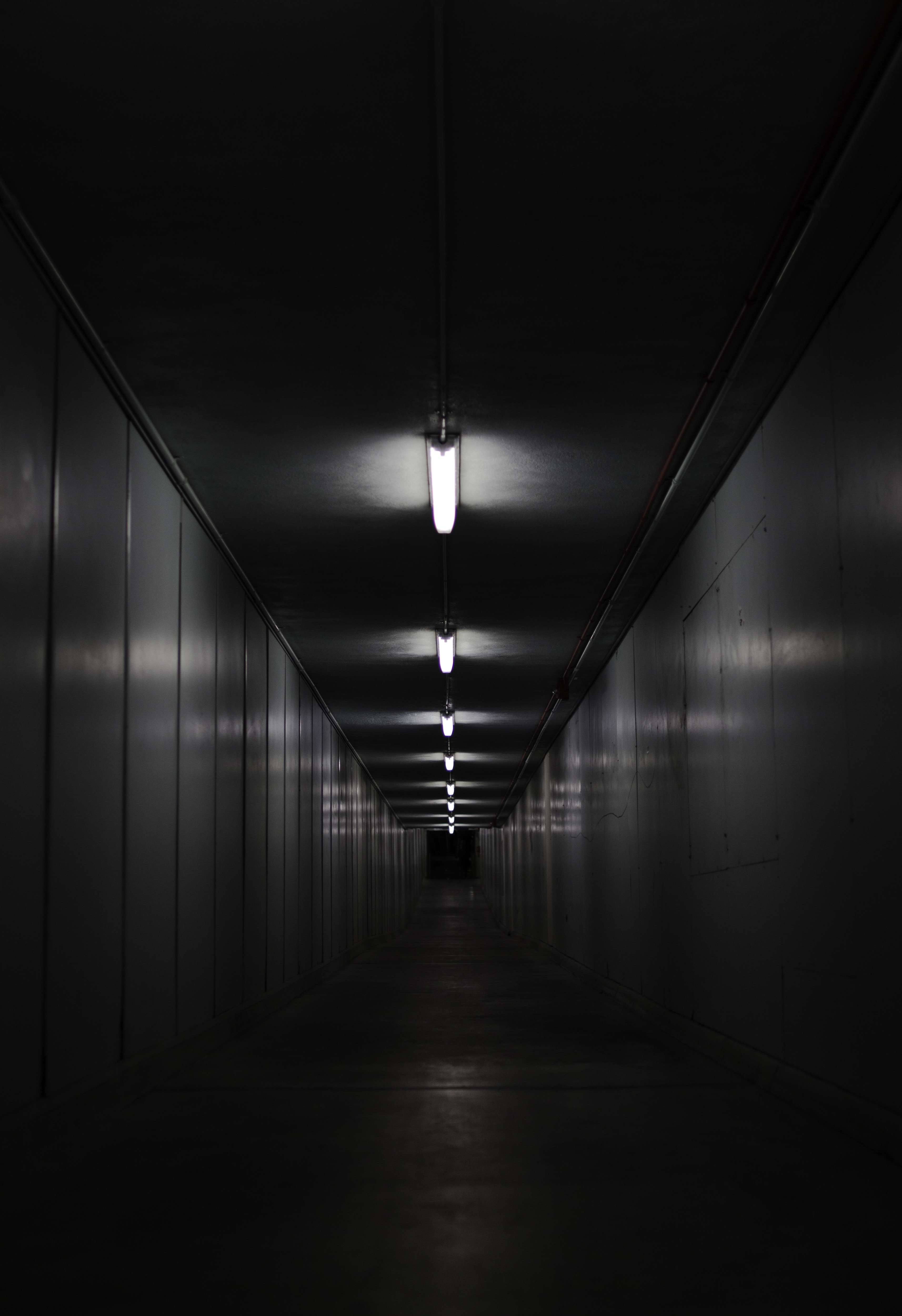 75441 baixar papel de parede Corredor, Premissas, Quarto, Preto E Branco, Iluminação, Paredes - protetores de tela e imagens gratuitamente