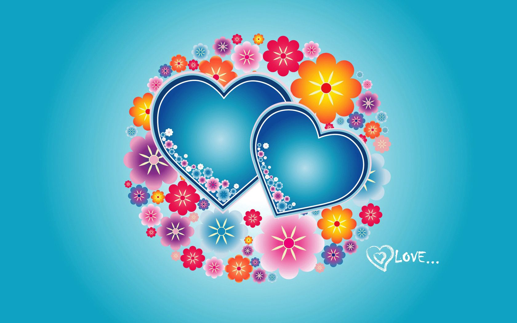 74855 download wallpaper Love, Bright, Flowers, Patterns, Hearts screensavers and pictures for free