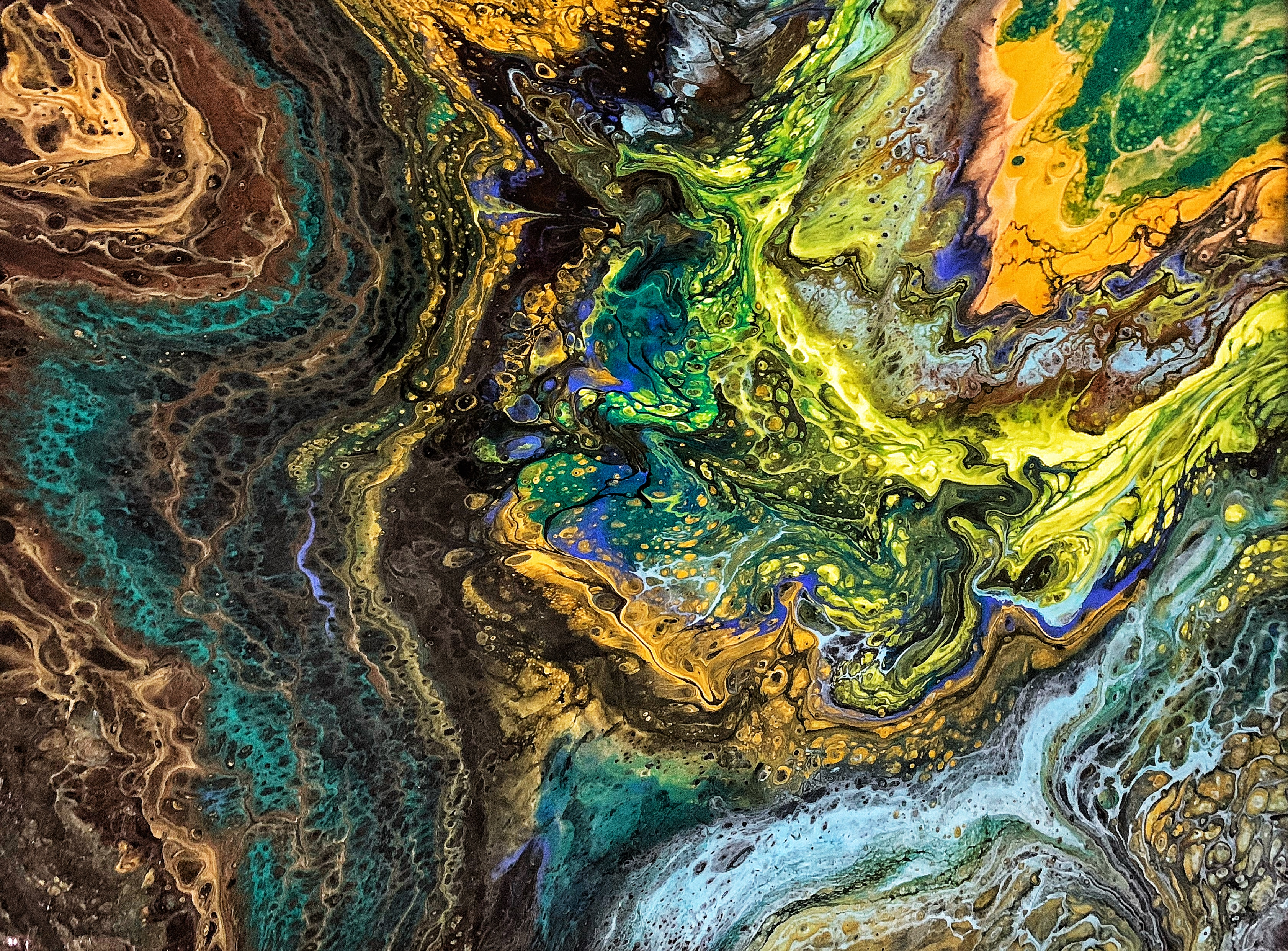 127386 download wallpaper Abstract, Divorces, Multicolored, Motley, Texture, Liquid screensavers and pictures for free