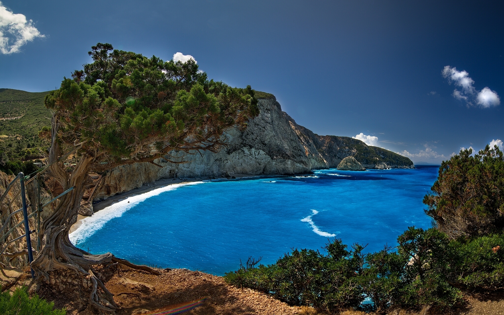 75764 скачать обои Природа, Порто Кацики, Лефкас, Греция, Ионическое Море, Hdr - заставки и картинки бесплатно