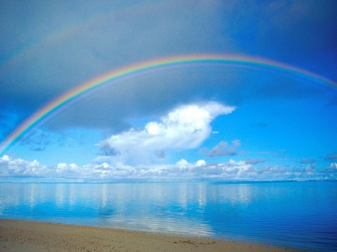 45912 免費下載壁紙 景观, 海, 彩虹 屏保和圖片