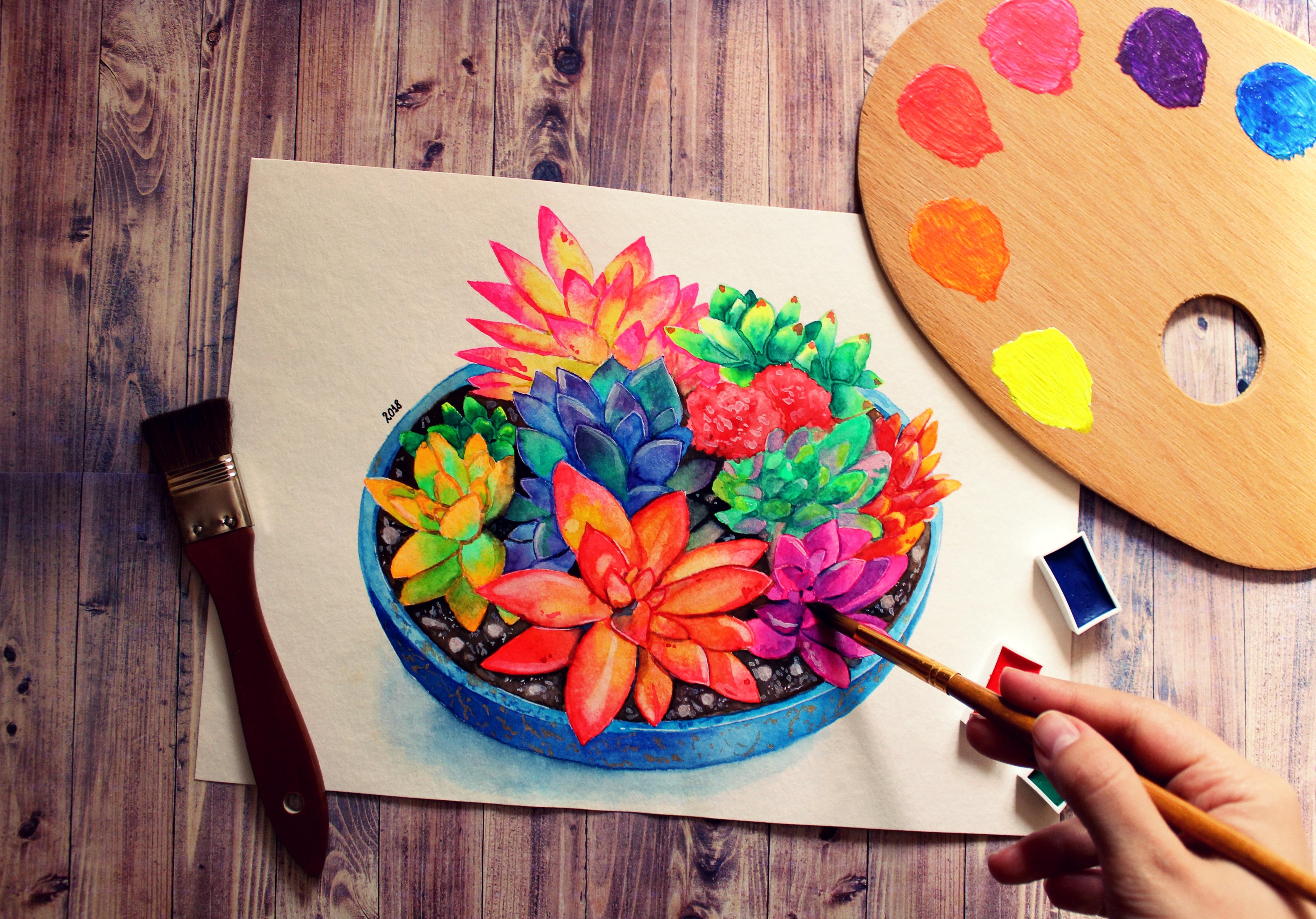 85260 Hintergrundbild herunterladen Künstler, Verschiedenes, Sonstige, Zeichnung, Farben, Malerei - Bildschirmschoner und Bilder kostenlos