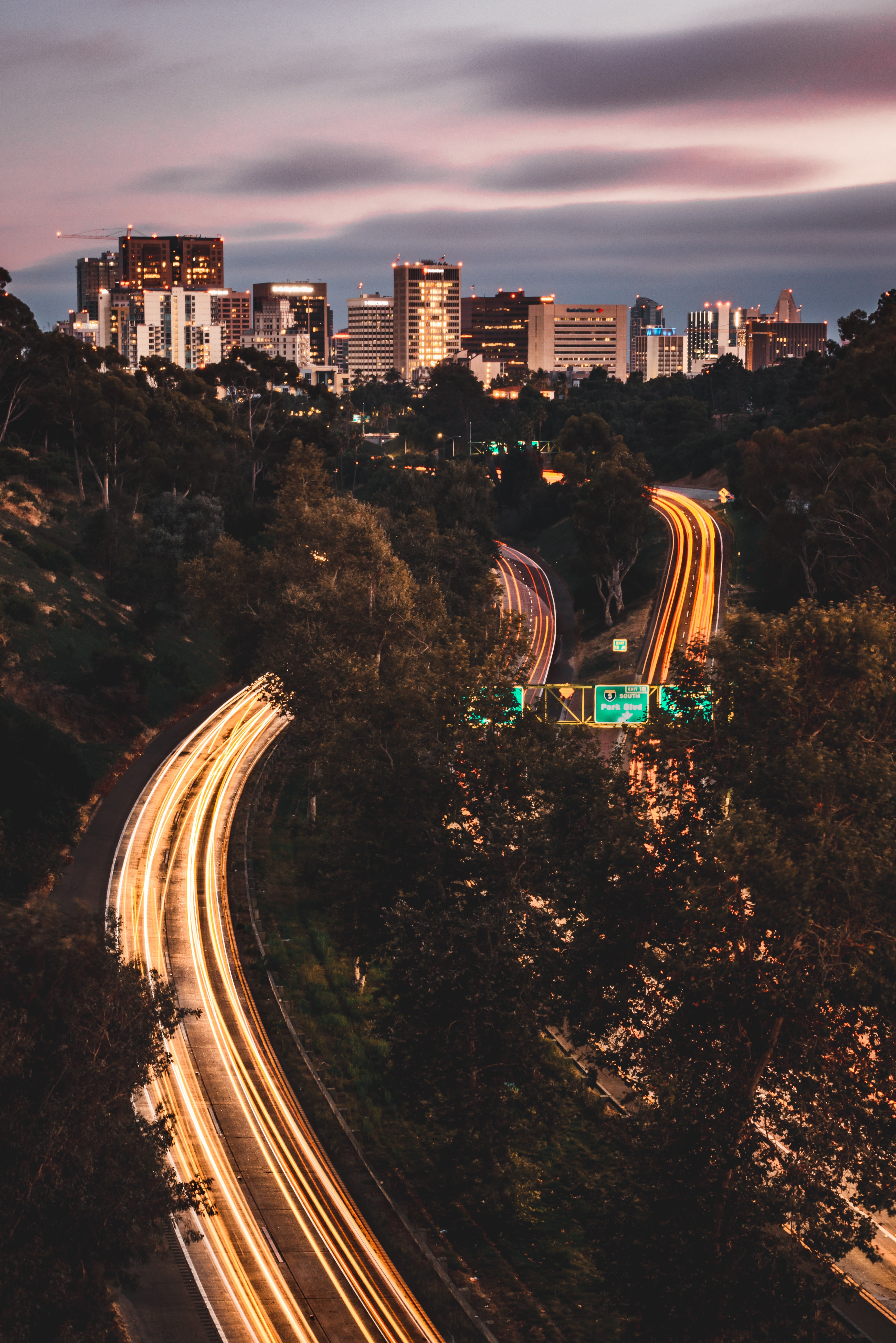 85530 Screensavers and Wallpapers Roads for phone. Download Cities, Roads, City, Lines, Long Exposure, Glow pictures for free