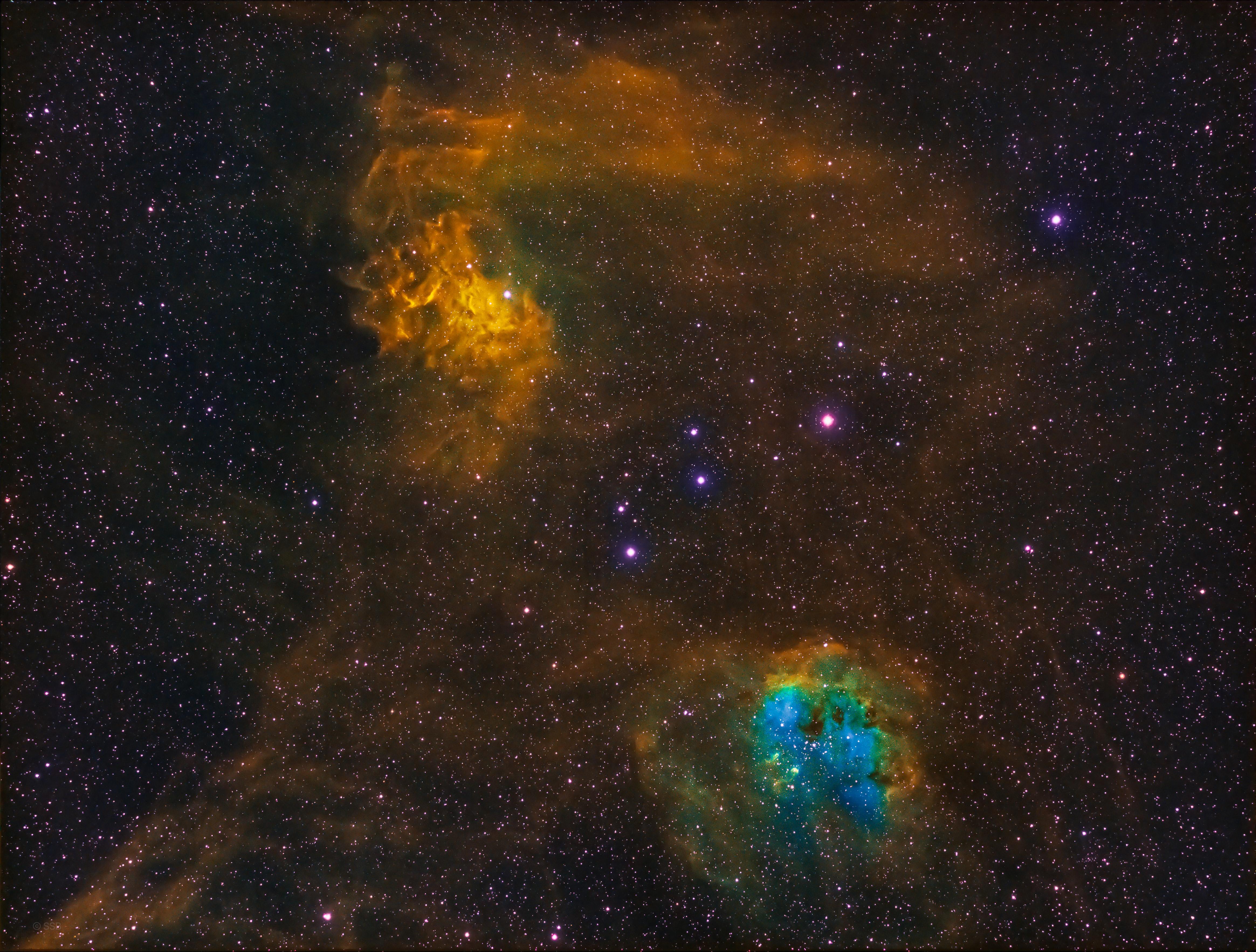 103569 免費下載壁紙 星云, 云, 云端, 宇宙, 多彩多姿, 五颜六色, 星级 屏保和圖片