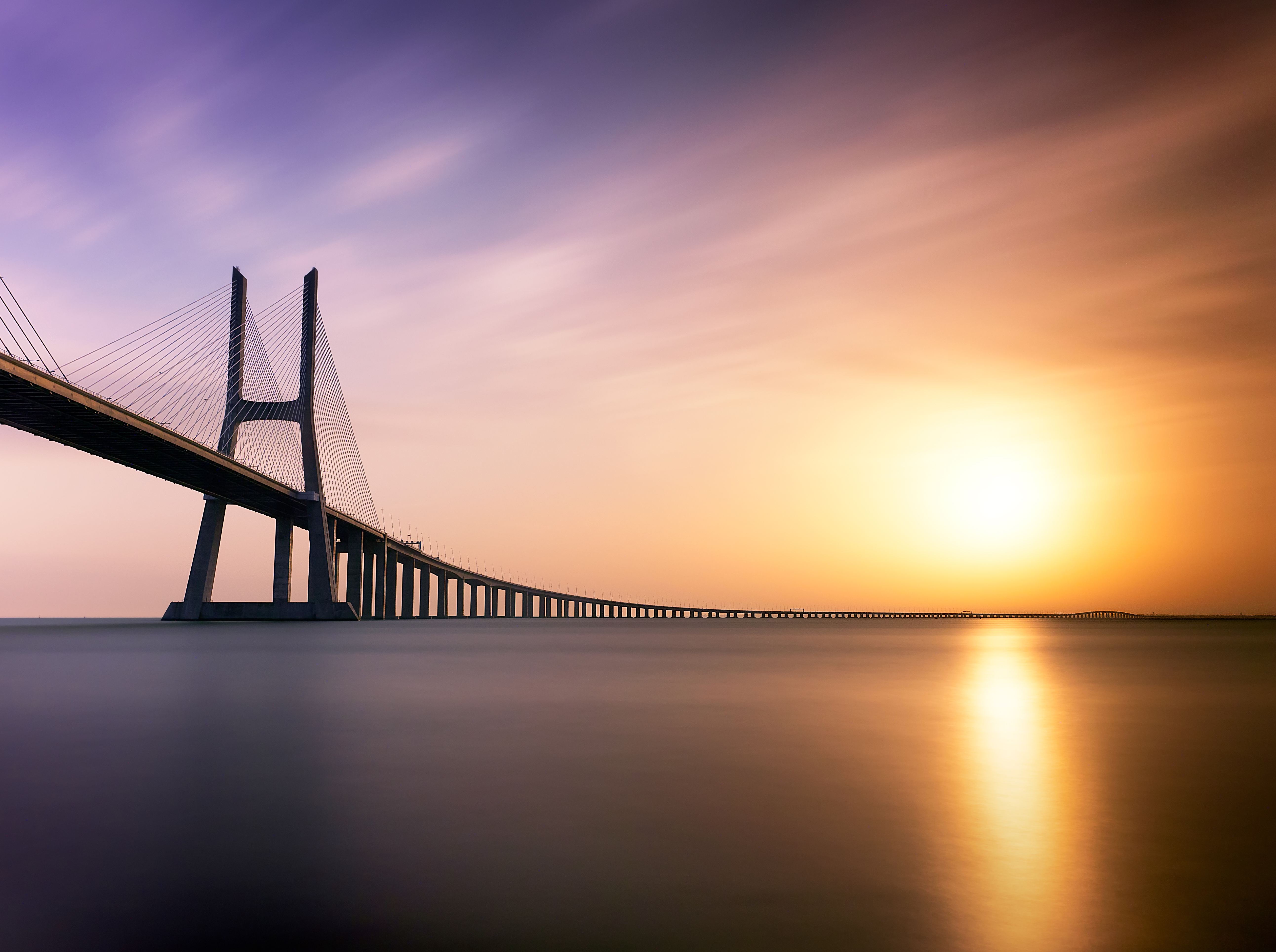 58165 Hintergrundbild herunterladen Architektur, Flüsse, Minimalismus, Brücke, Lissabon, Portugal - Bildschirmschoner und Bilder kostenlos