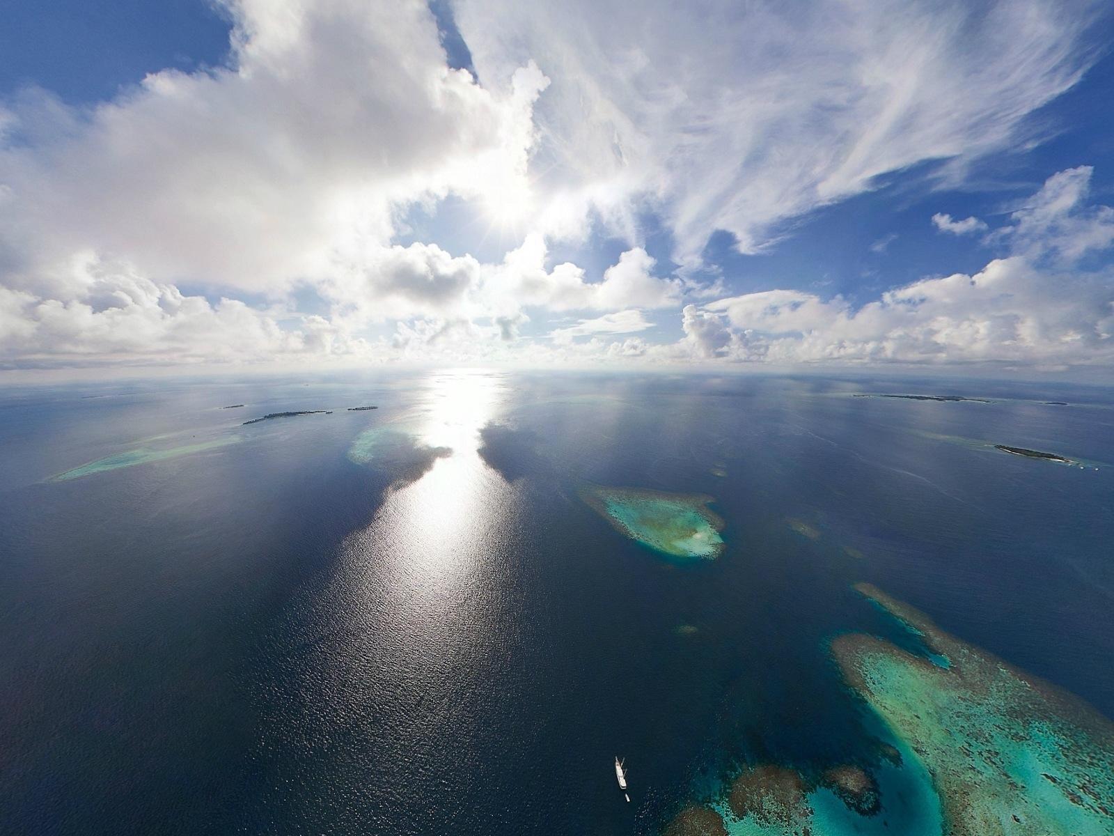 19252 скачать обои Пейзаж, Небо, Море, Солнце, Облака - заставки и картинки бесплатно