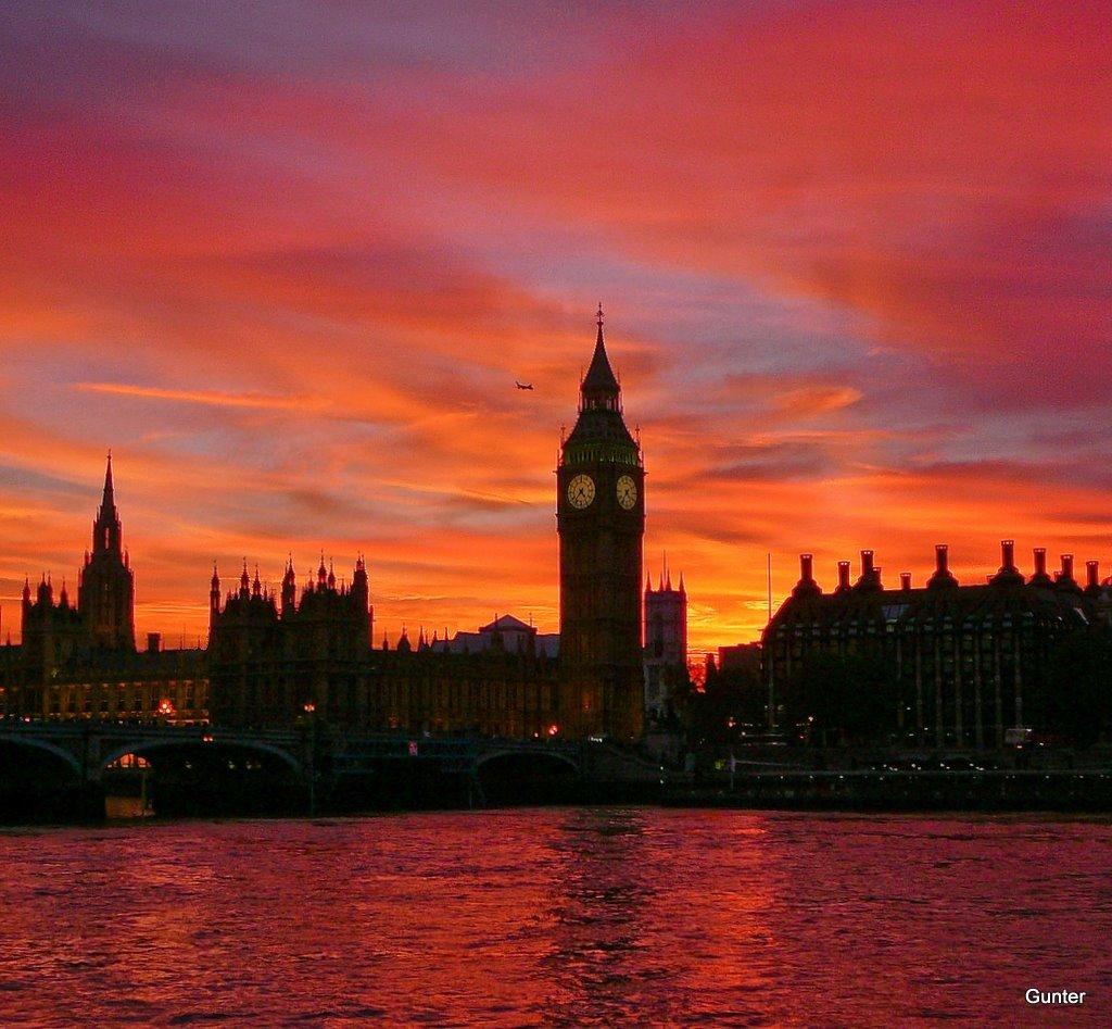 Handy-Wallpaper Landschaft, Städte, Sunset, Architektur, London, Big Ben kostenlos herunterladen.