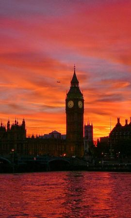 11579 download wallpaper Landscape, Cities, Sunset, Architecture, London, Big Ben screensavers and pictures for free